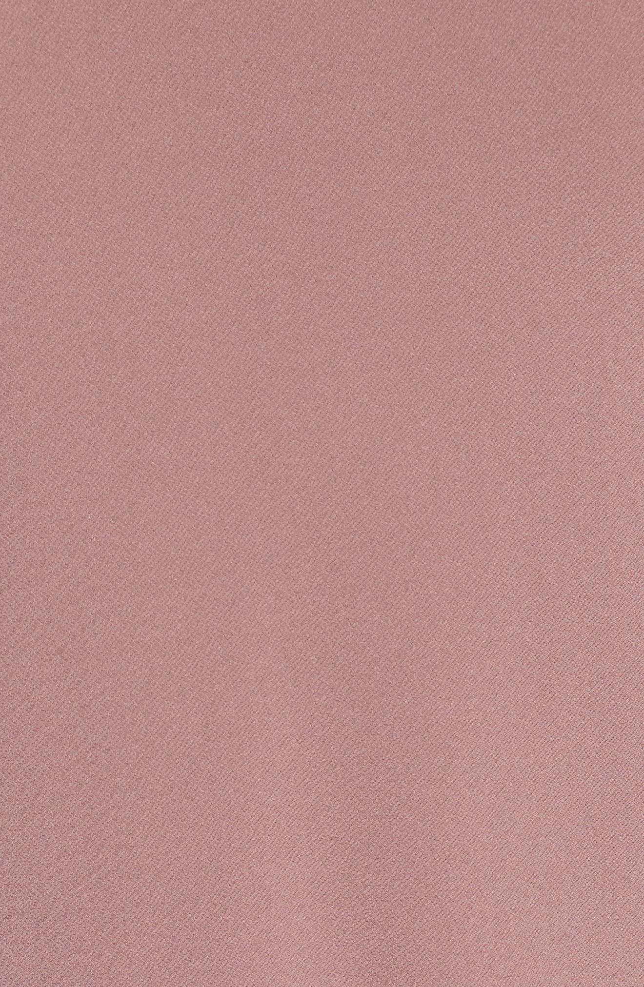 Side Knot Tee,                             Alternate thumbnail 5, color,                             Purple Taupe