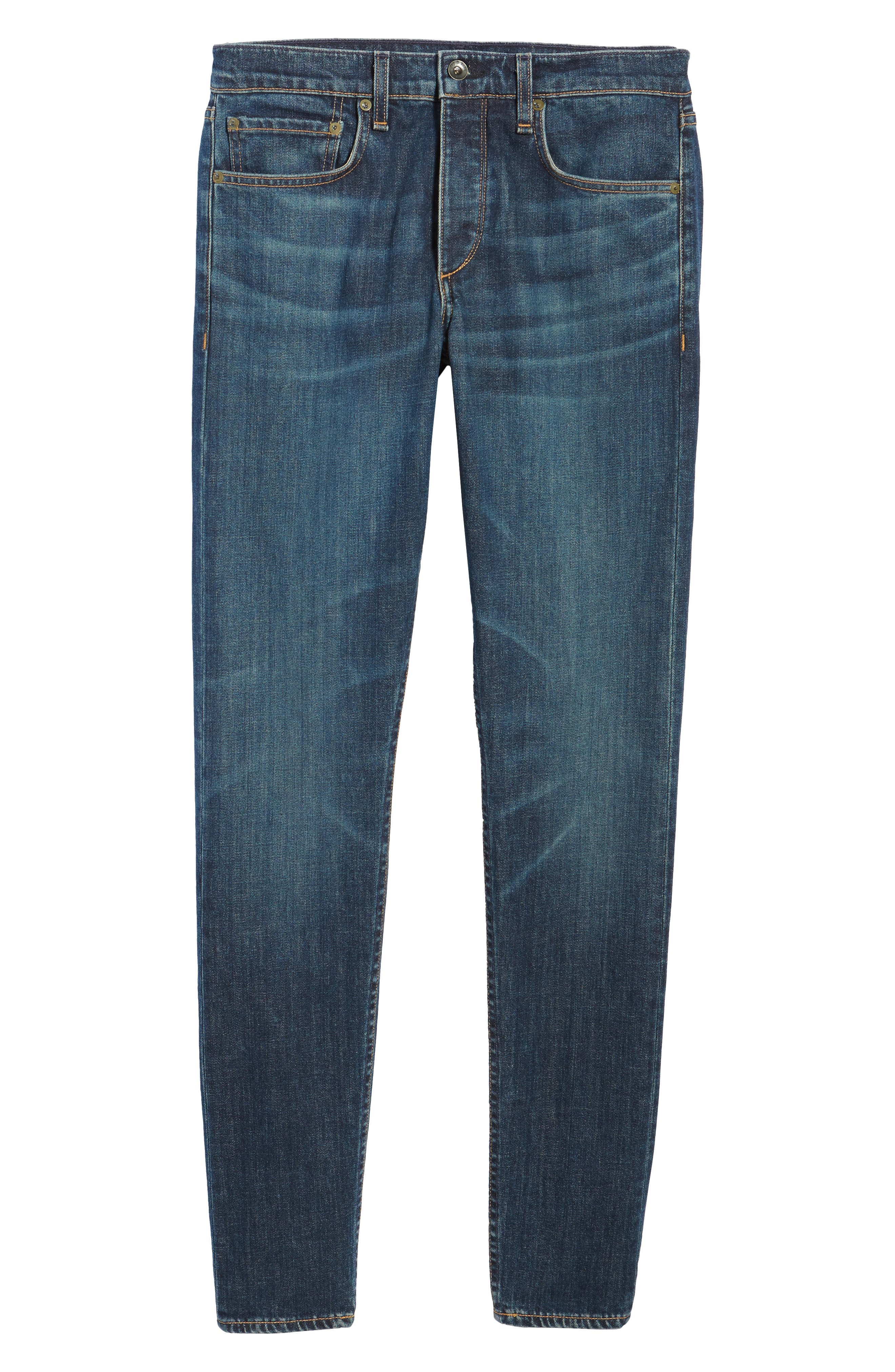 Fit 1 Skinny Fit Jeans,                             Alternate thumbnail 5, color,                             Linden