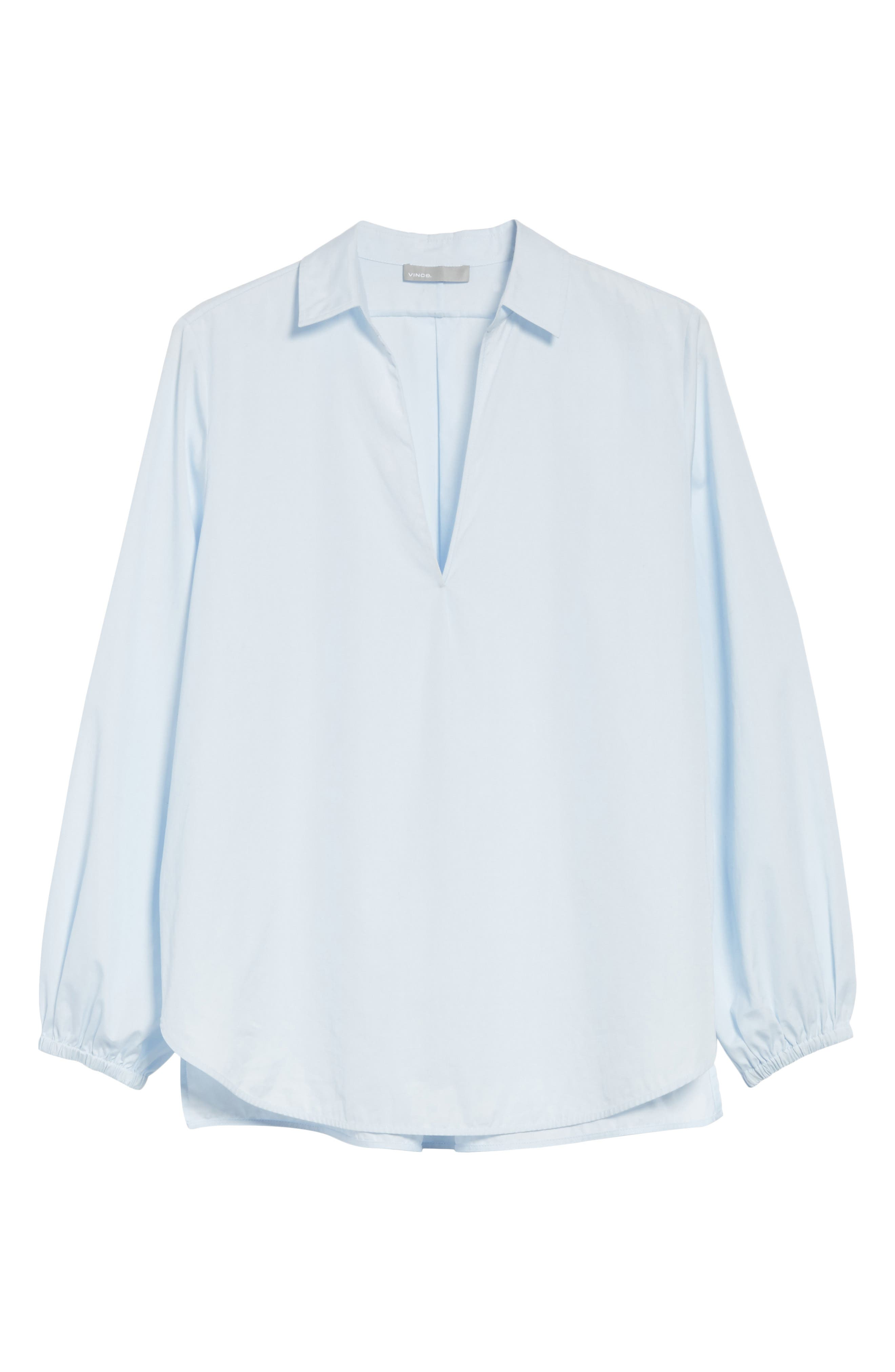 Swing Front Pullover Shirt,                             Alternate thumbnail 6, color,                             Powder Blue