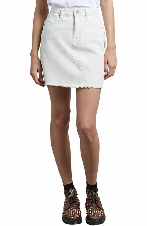 Volcom Stone Denim Miniskirt (Vanilla)