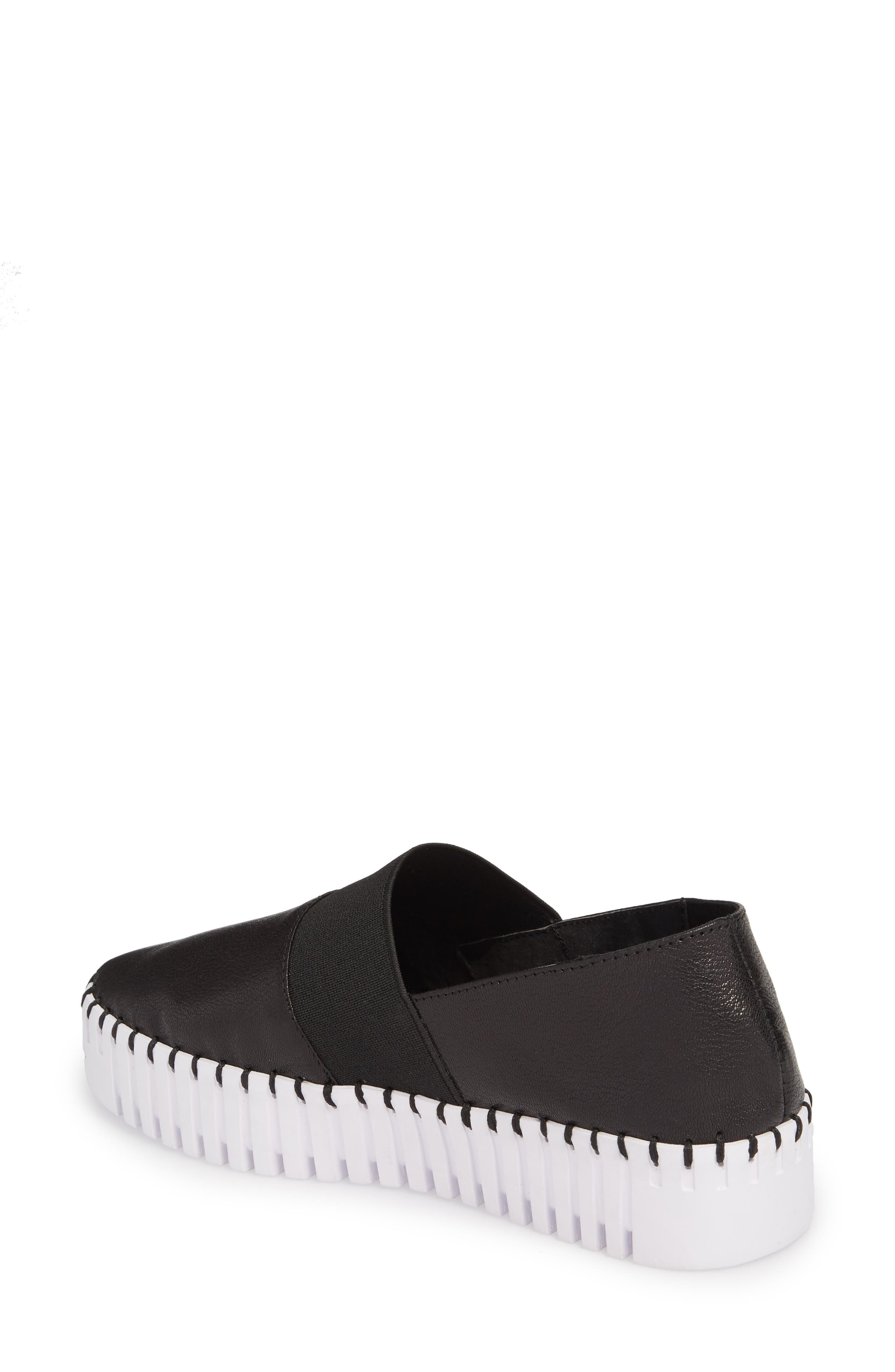 Cube Slip-On Platform Sneaker,                             Alternate thumbnail 2, color,                             Black Leather