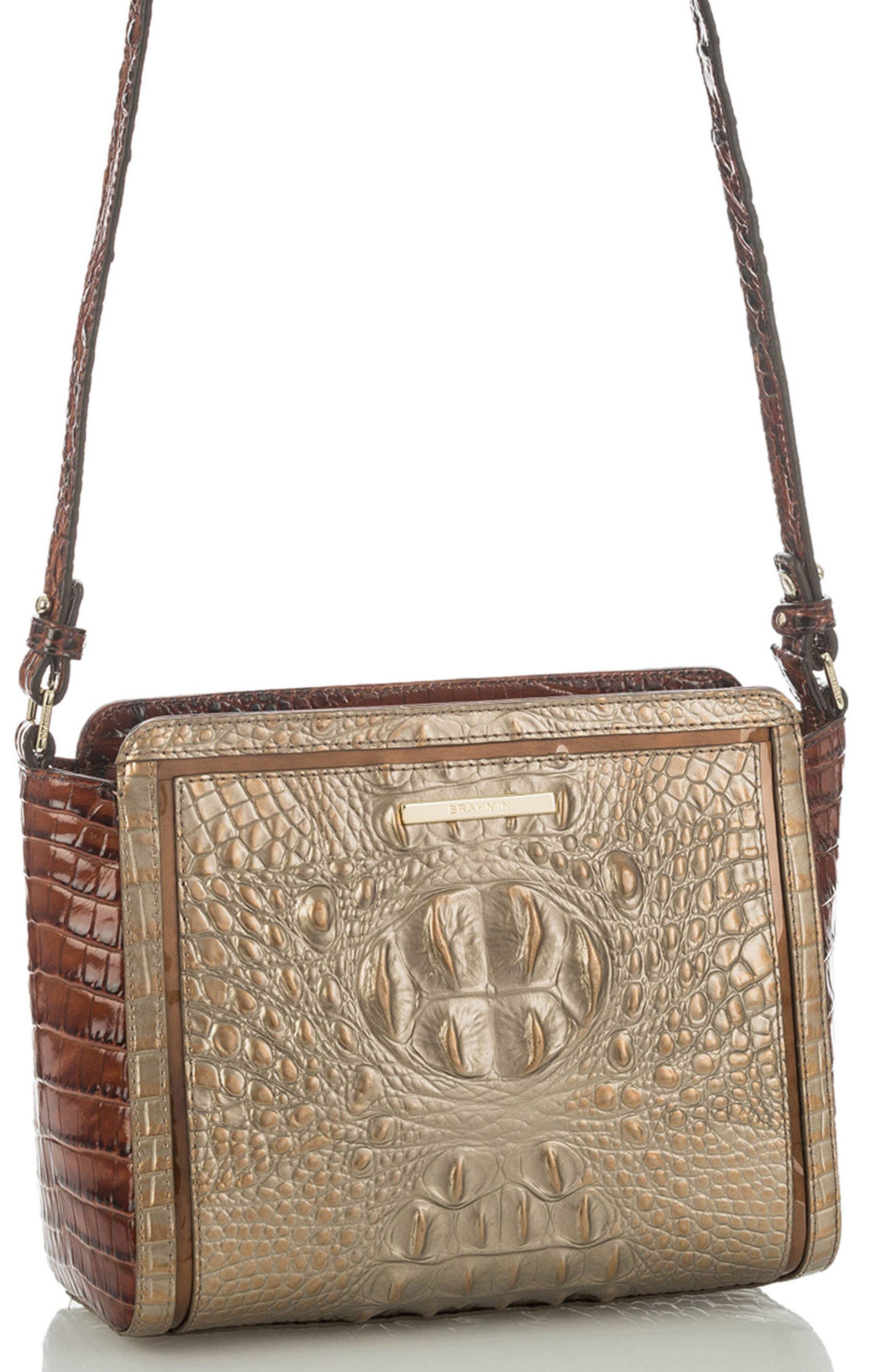 Alternate Image 4  - Brahmin Carrie Croc-Embossed Leather Crossbody Bag