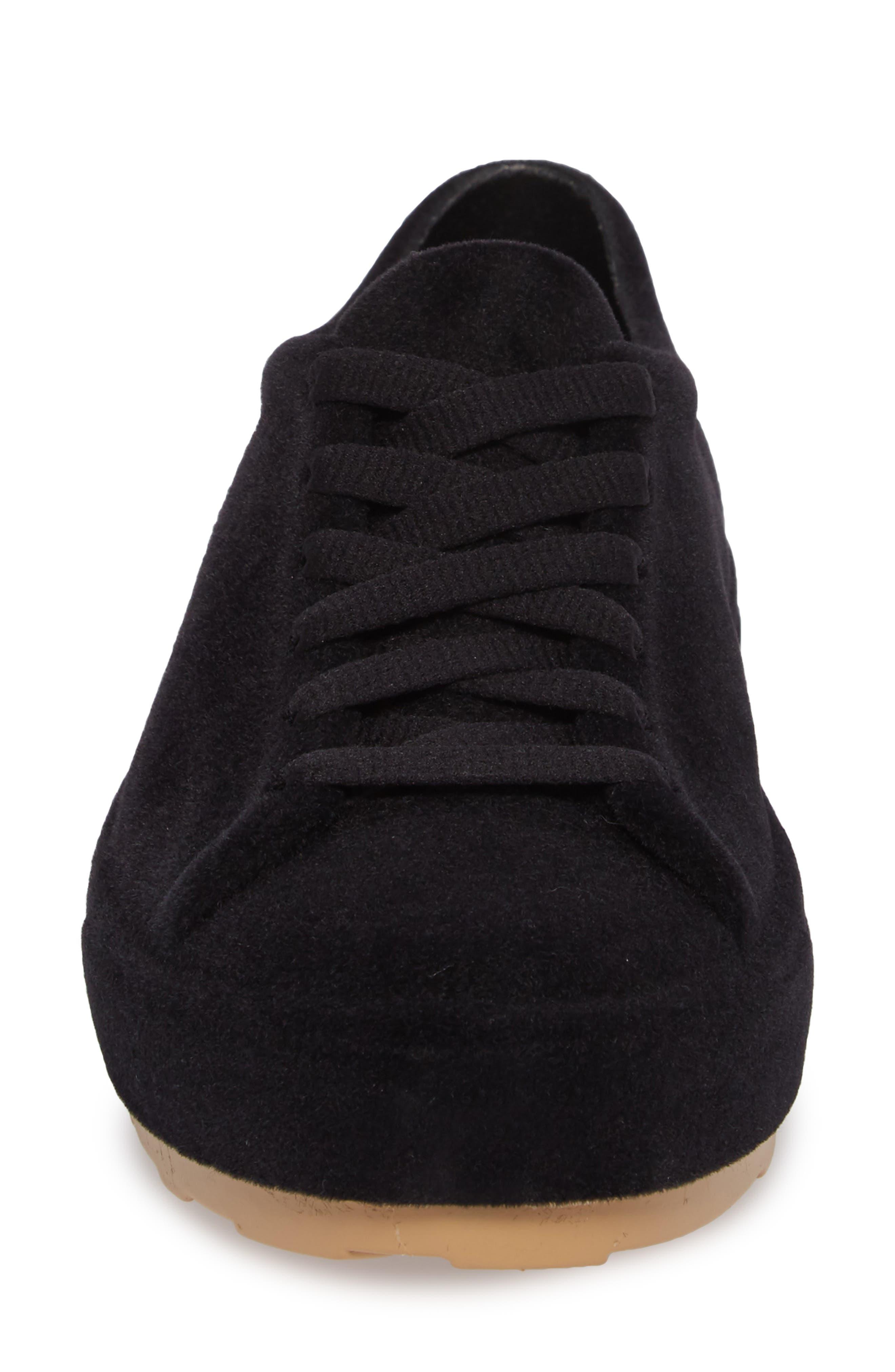 Be Flocked Sneaker,                             Alternate thumbnail 4, color,                             Black