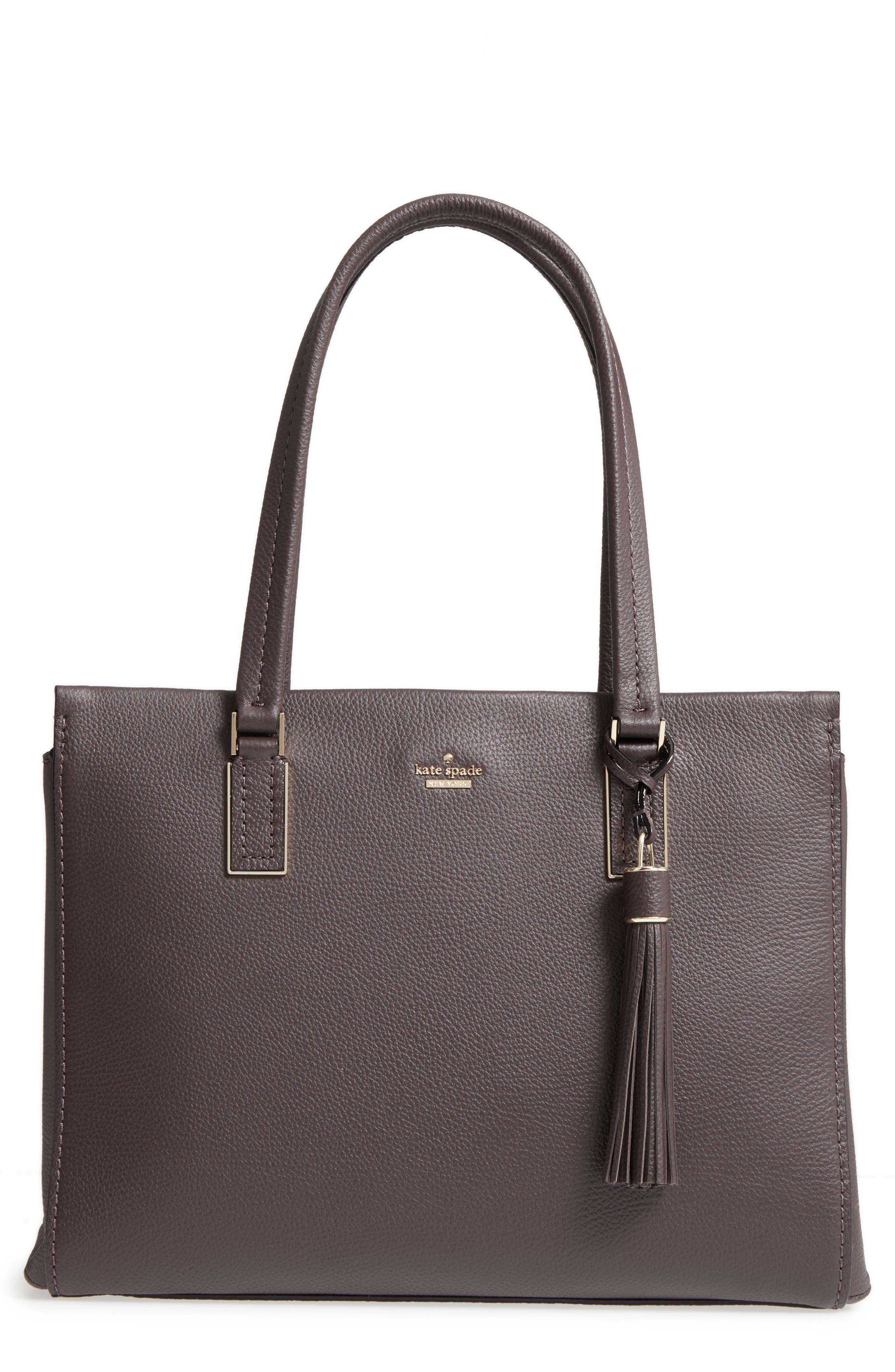 kingston drive - bartlett leather satchel,                         Main,                         color, Morning Black