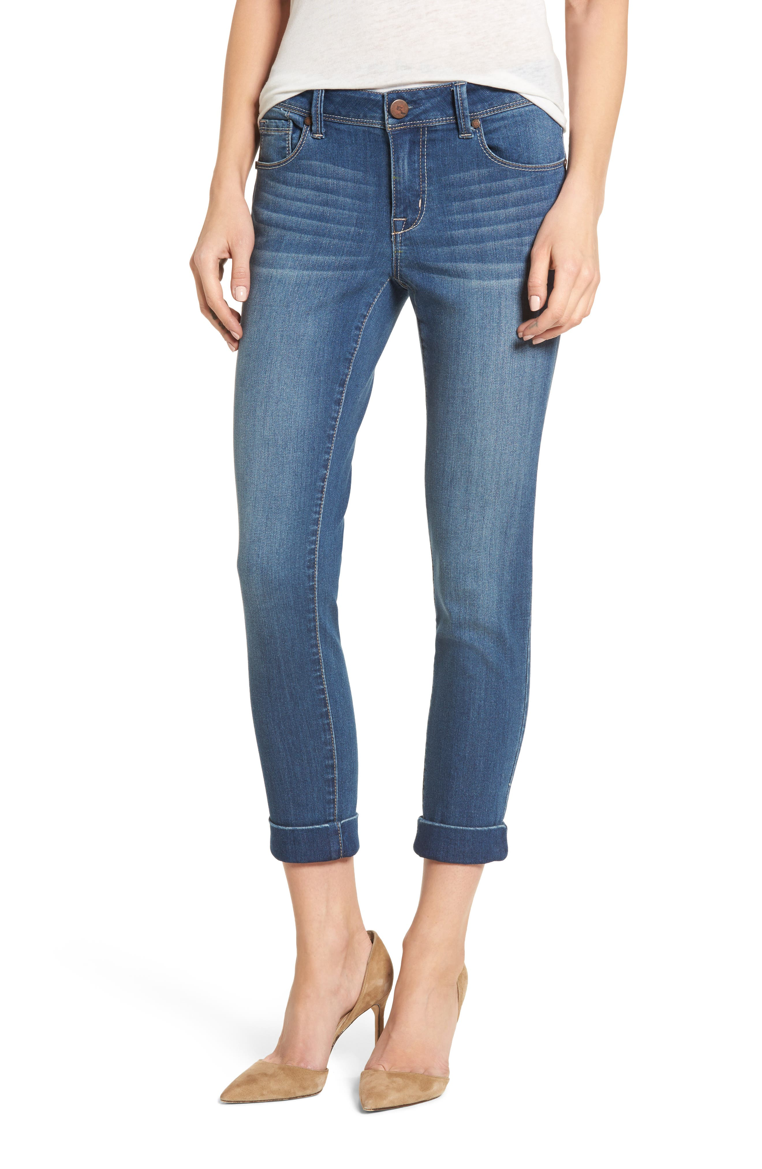 1822 Denim Cuff Roll Skinny Crop Jeans