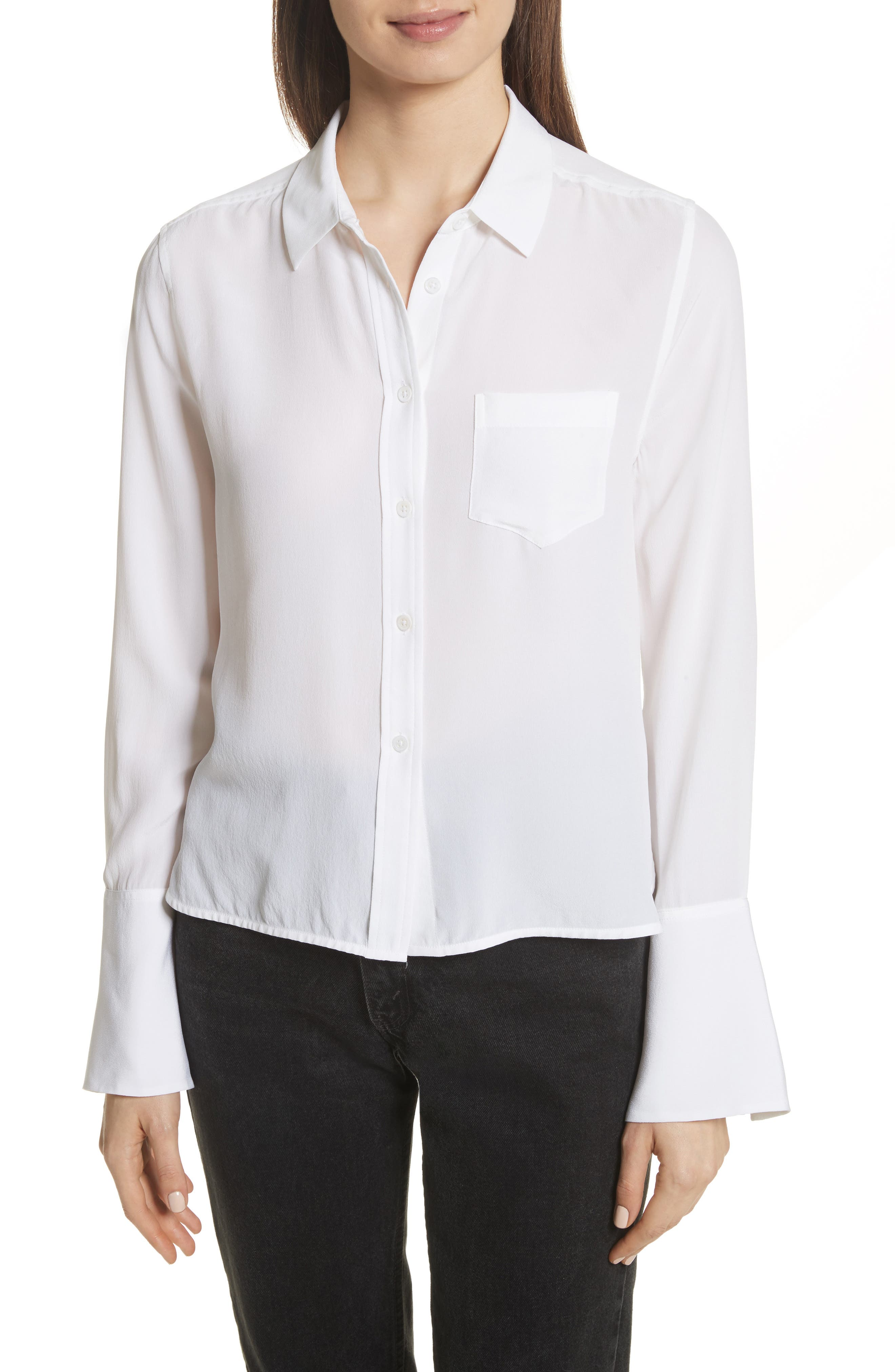 Equipment Darla Bell Cuff Shirt