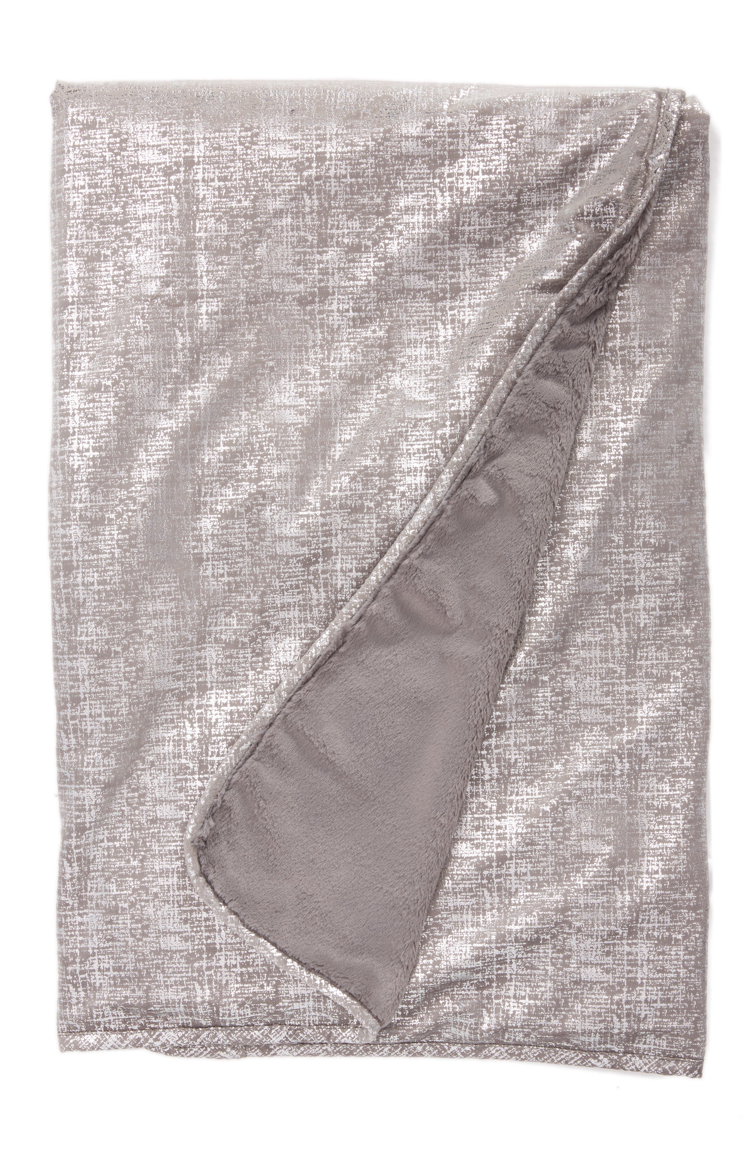 Luxe<sup>™</sup> Lustre Rain Throw,                         Main,                         color, Charcoal