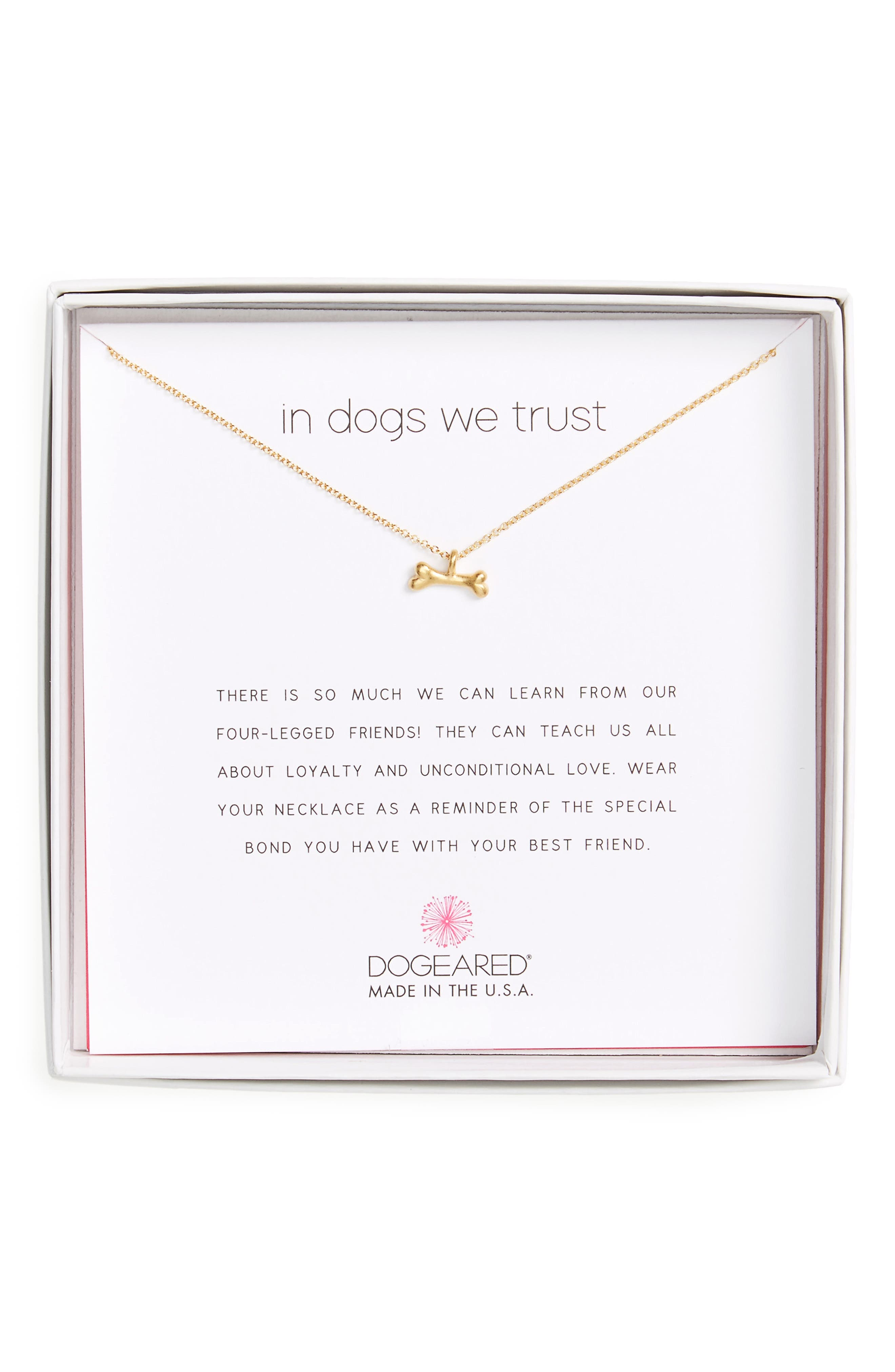 Alternate Image 1 Selected - Dogeared In Dogs We Trust Pendant Necklace