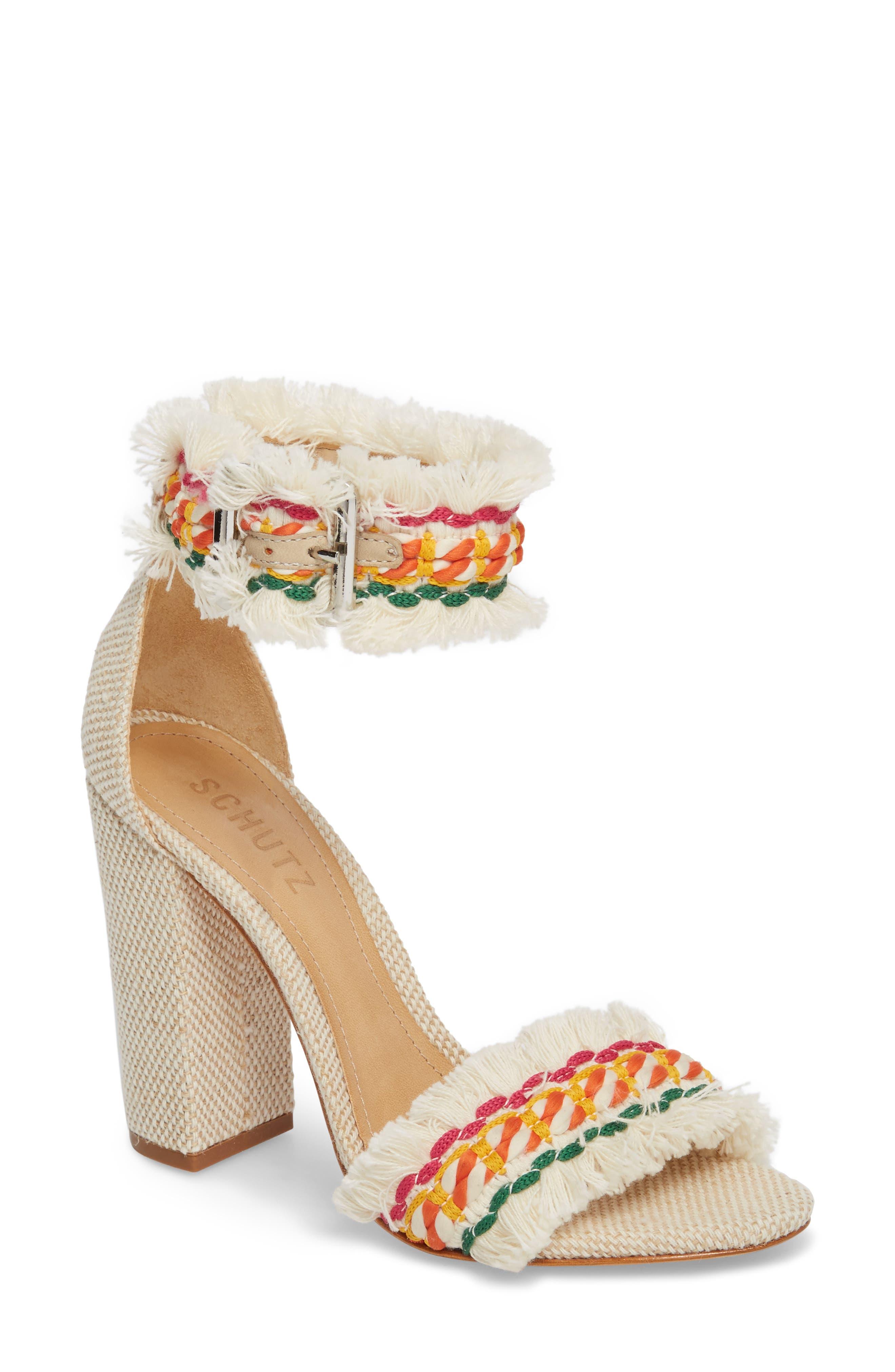Zoola Block Heel Sandal,                         Main,                         color, White Multi Print