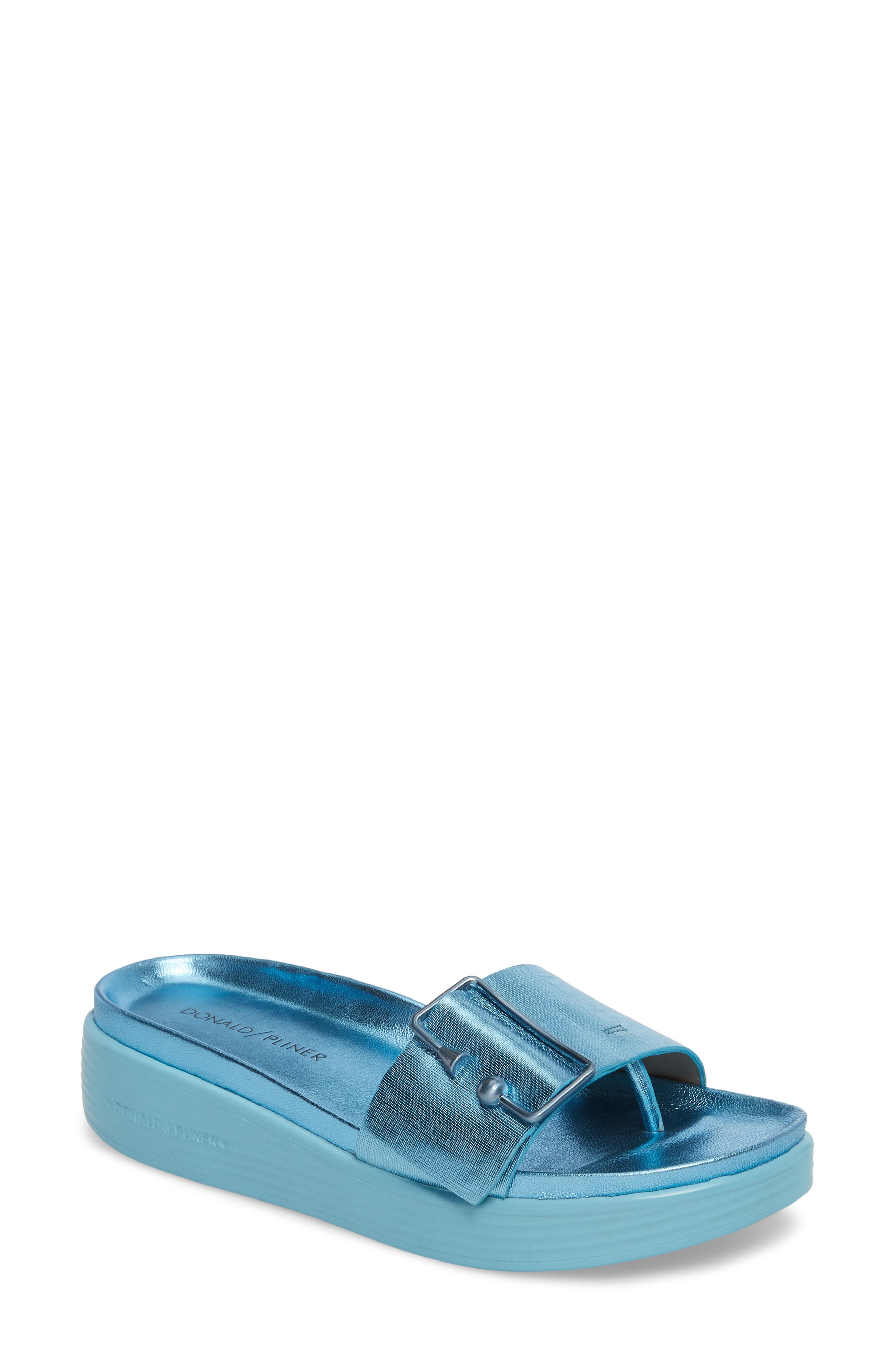 Alternate Image 1 Selected - Donald Pliner Fara Platform Slide Sandal (Women)