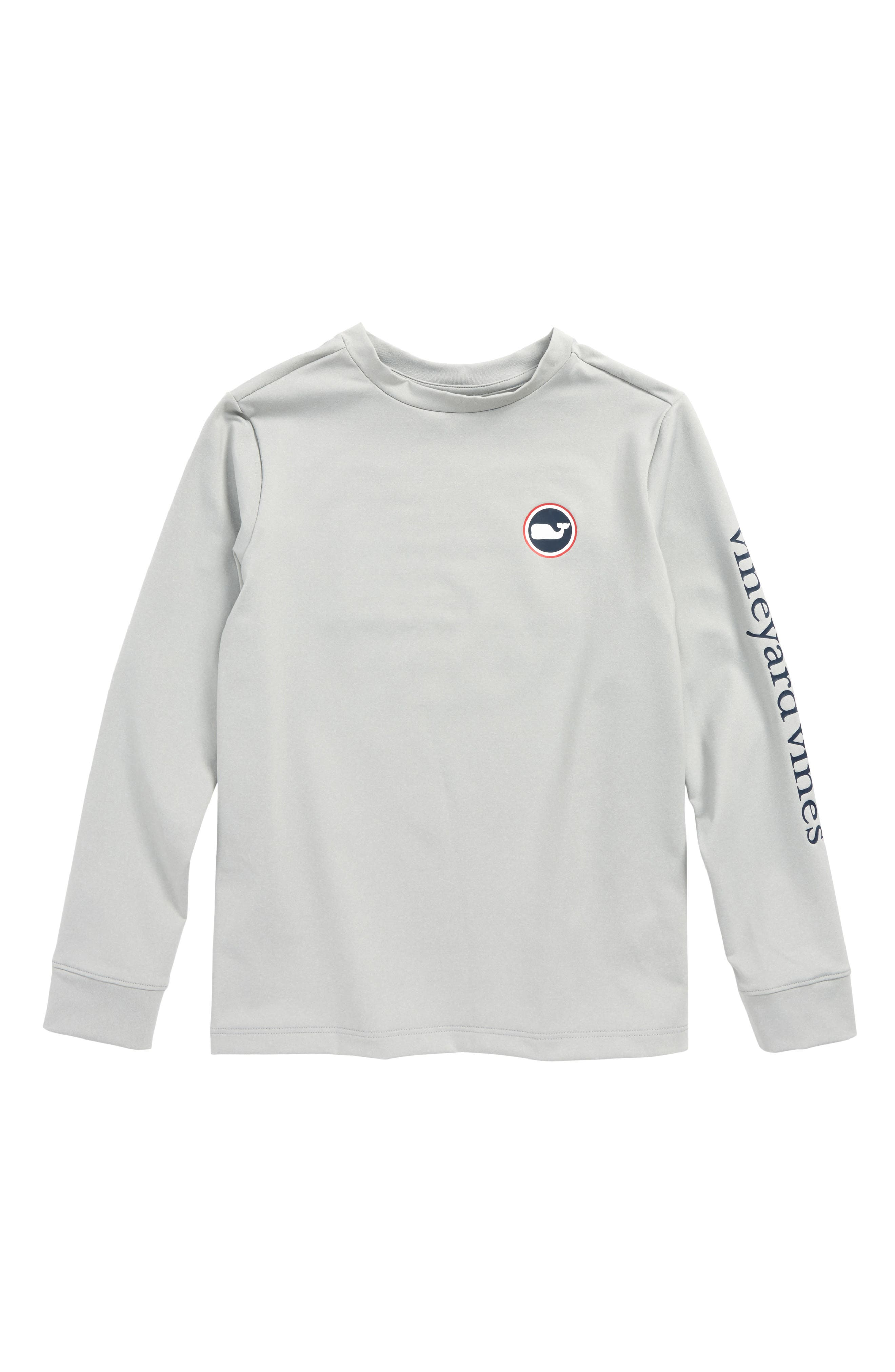 Whale Dot Performance T-Shirt,                         Main,                         color, Gray Heather