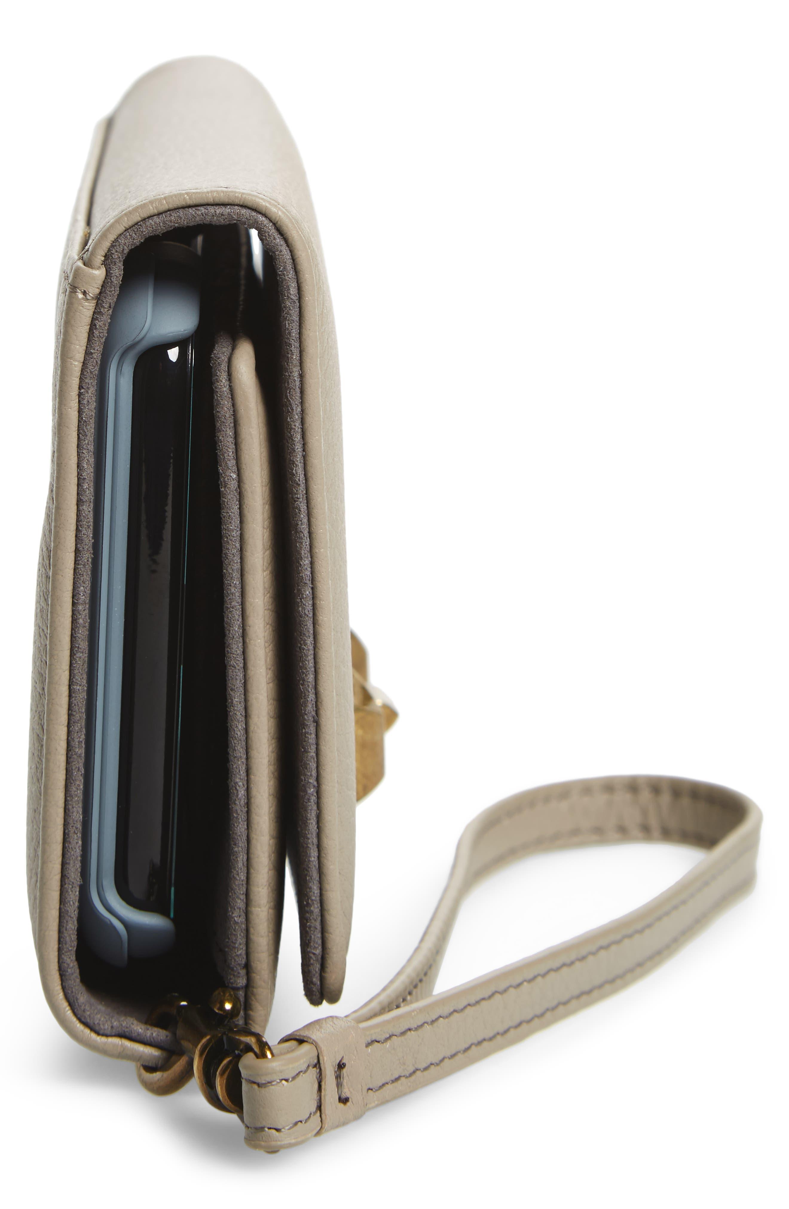 Alternate Image 5  - Rebecca Minkoff Love Lock iPhone X Leather Wristlet Folio