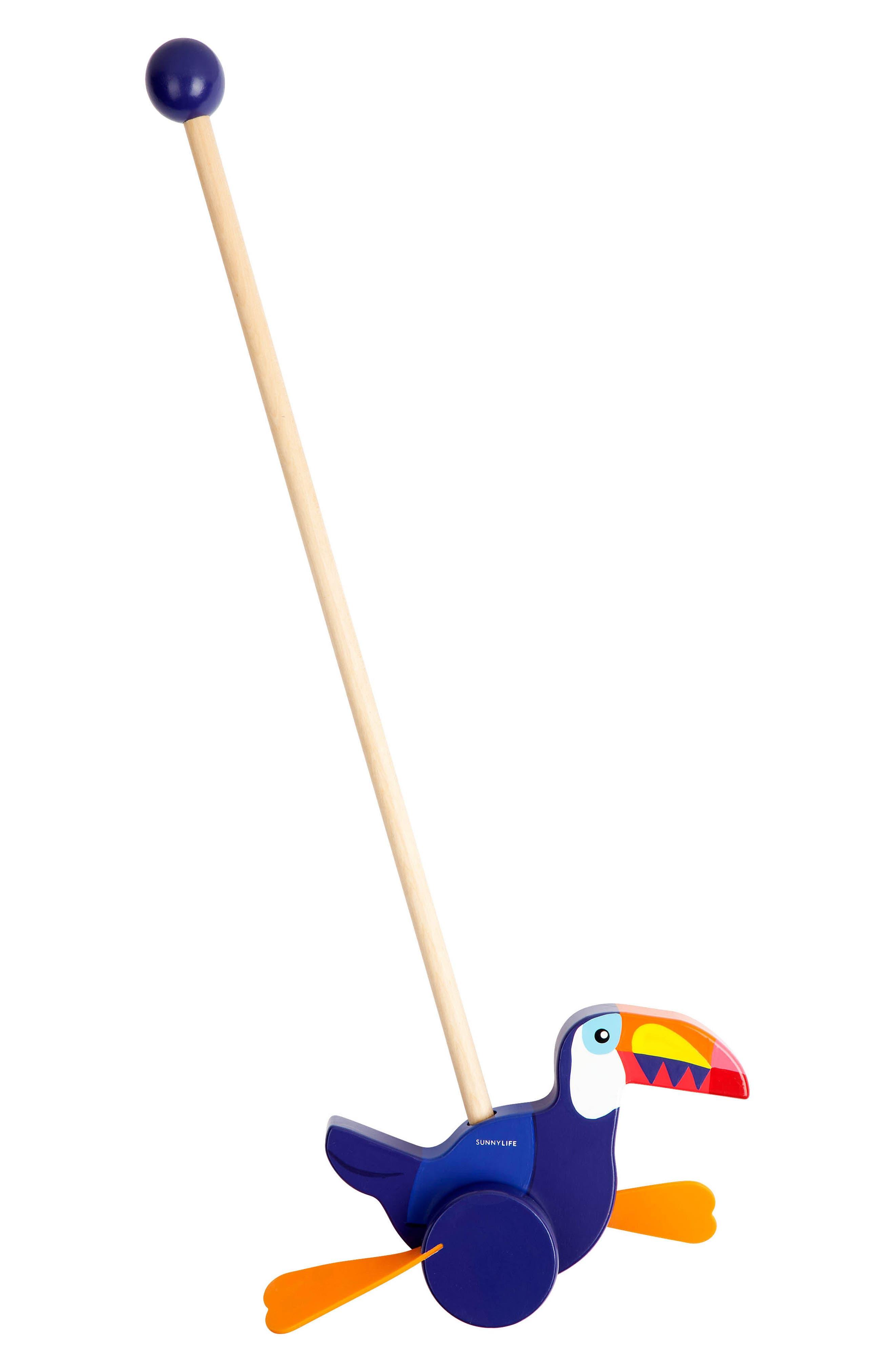 Sunnylife Toucan Push-Along Toy