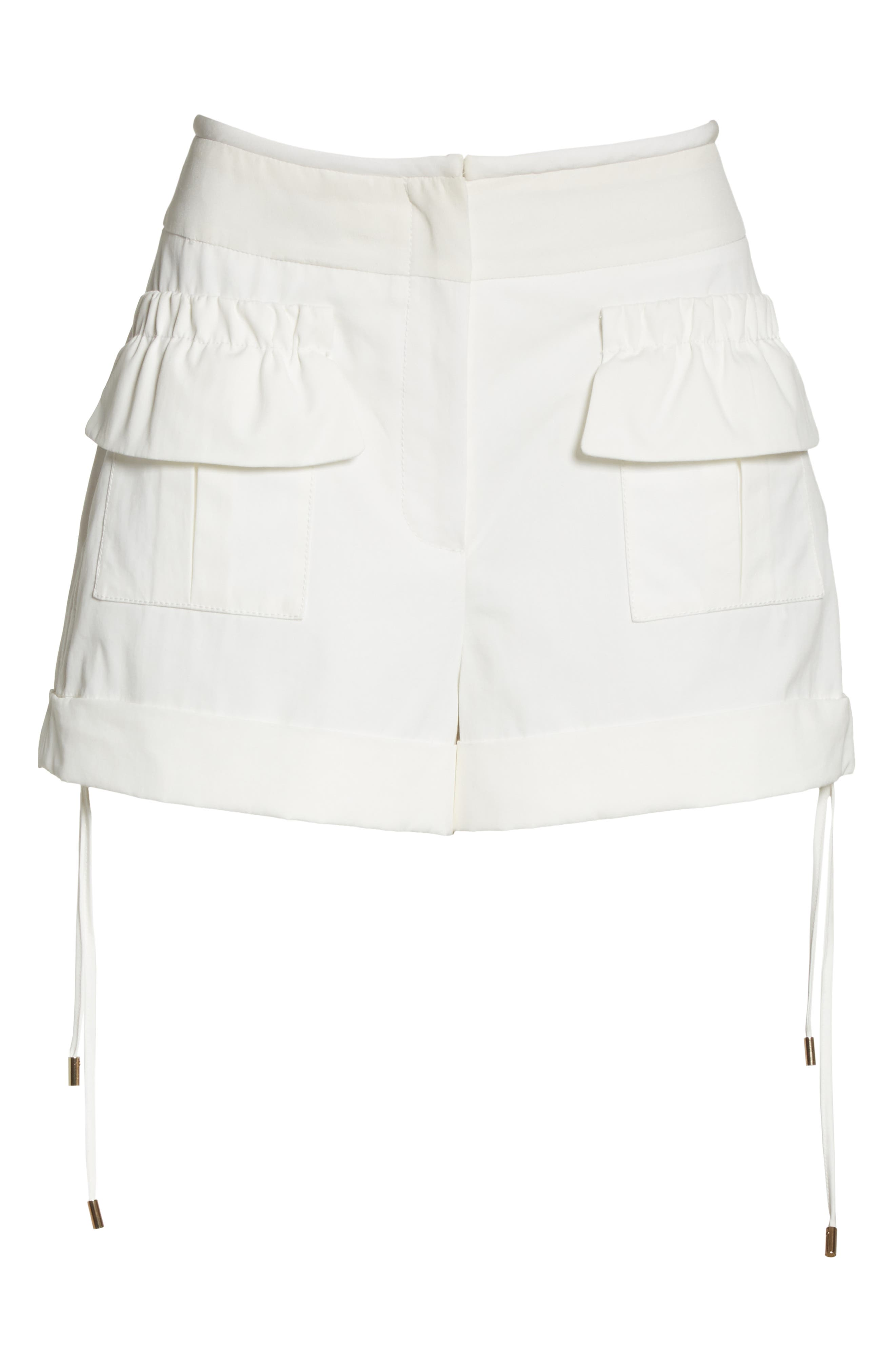 High Waist Shorts,                             Alternate thumbnail 6, color,                             Blanc Antique