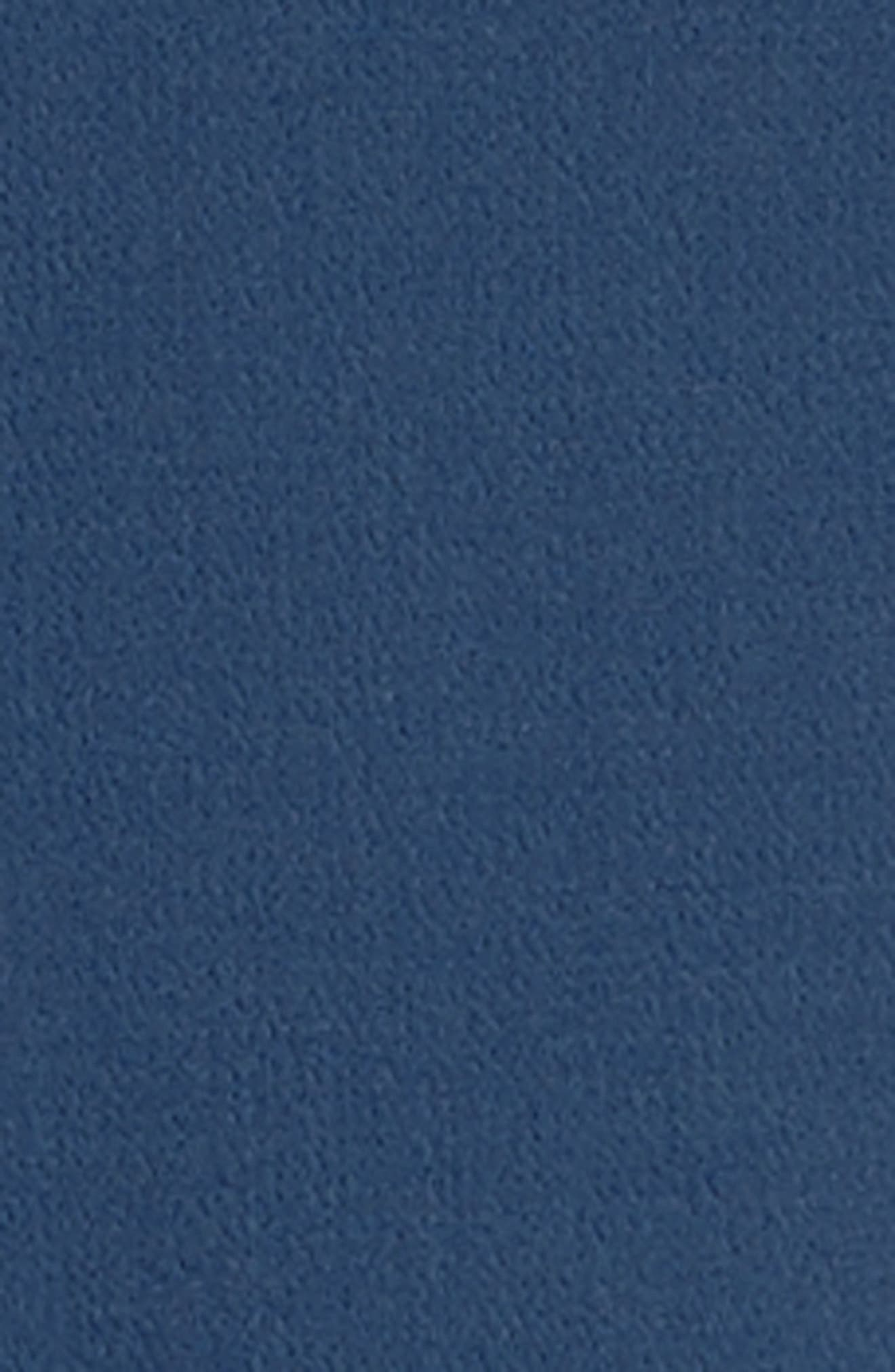 Double Face Wool Crepe Sheath Dress,                             Alternate thumbnail 5, color,                             Atlantic