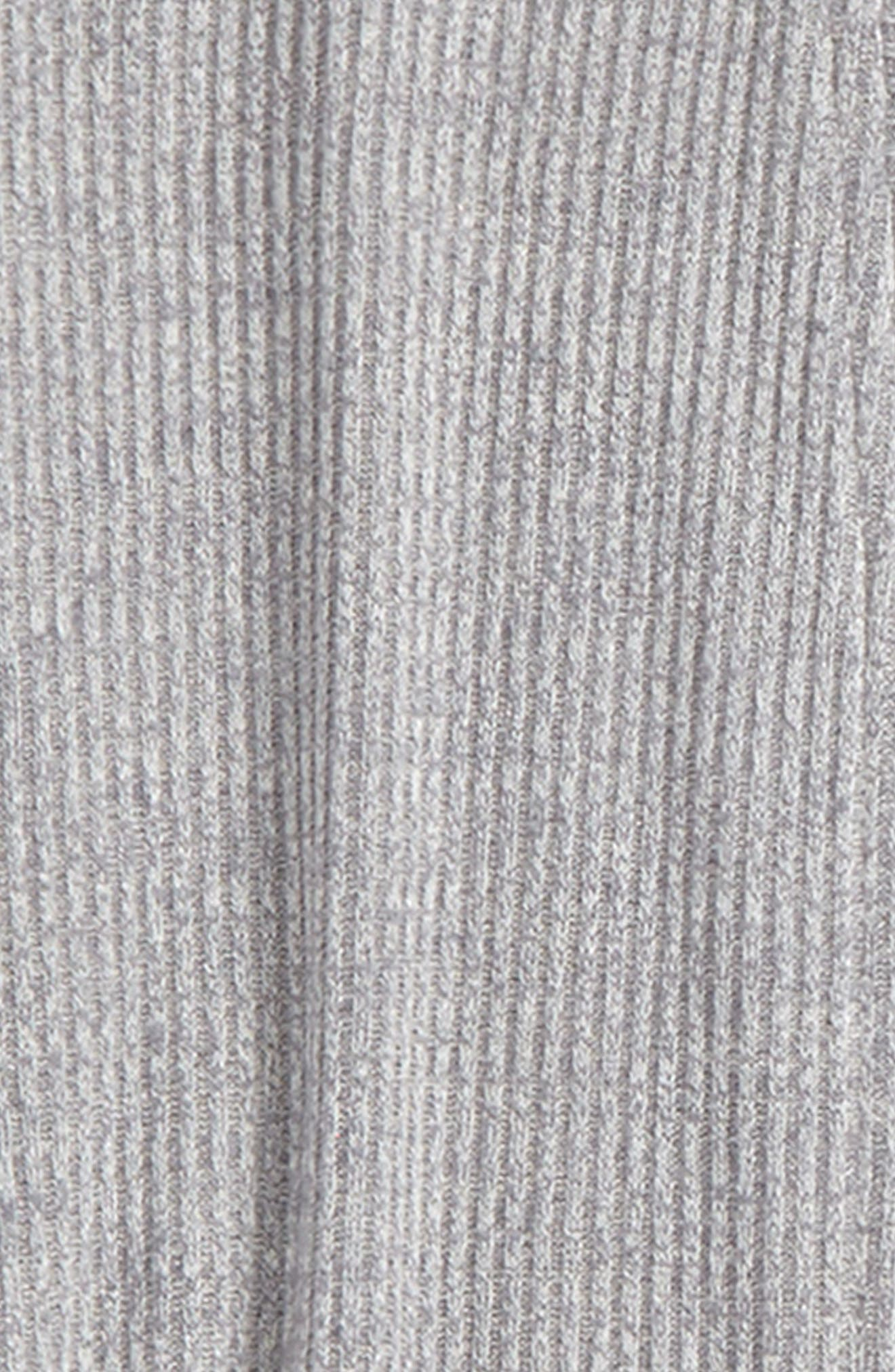 Blizzard Knit Hooded Cardigan,                             Alternate thumbnail 3, color,                             Zinc