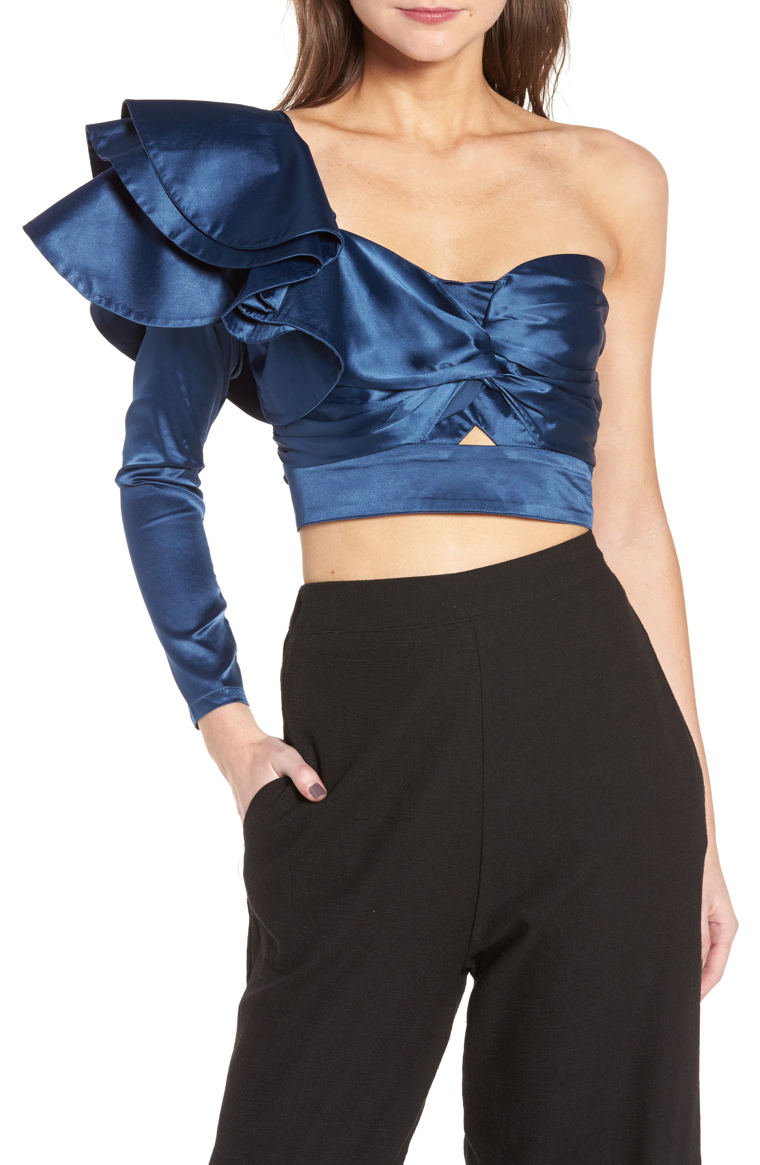 Show Stopper Top,                         Main,                         color, Navy Peony