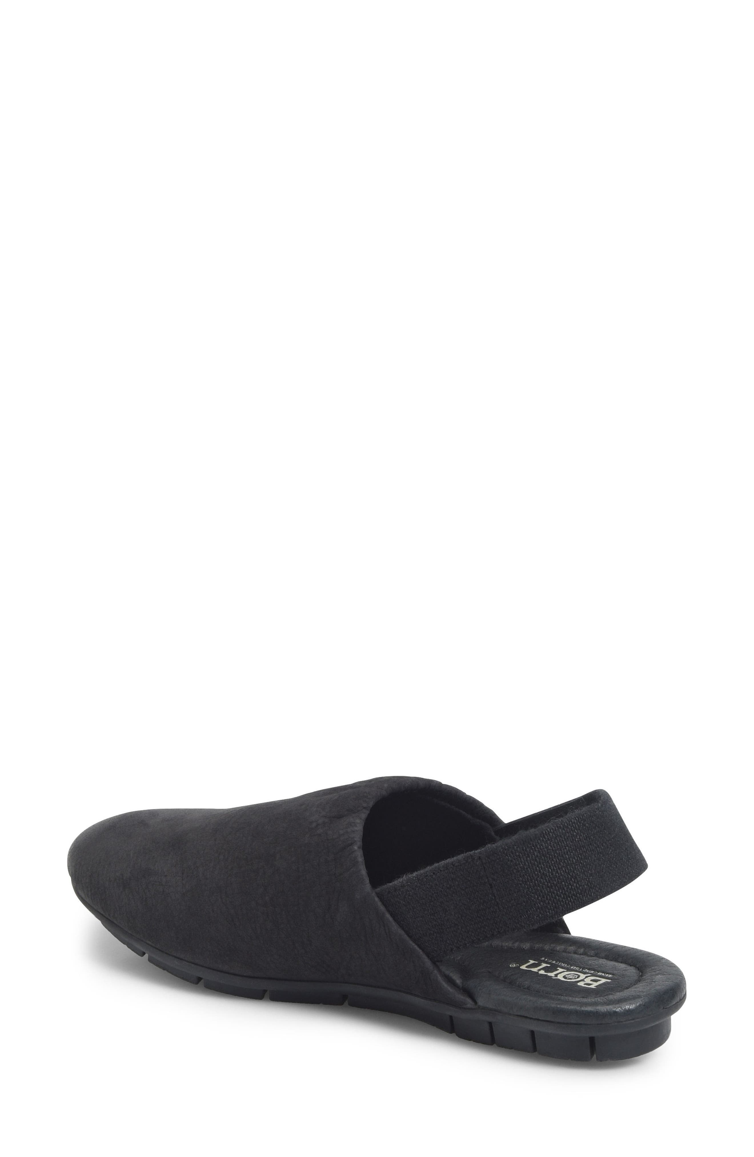 Bowe Slingback Flat,                             Alternate thumbnail 2, color,                             Black Nubuck