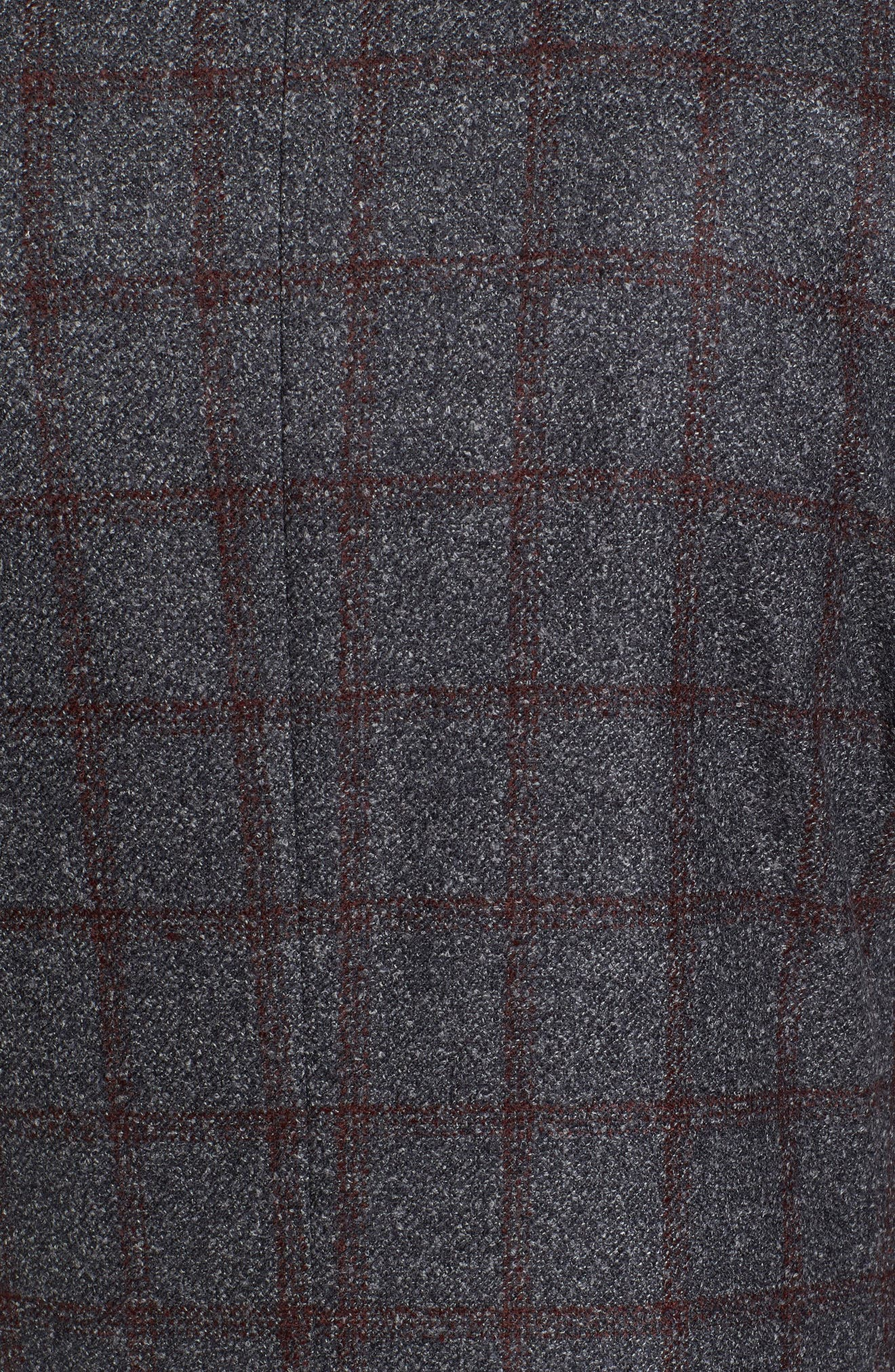 Kyle Trim Fit Windowpane Wool Blend Sport Coat,                             Alternate thumbnail 5, color,                             Grey