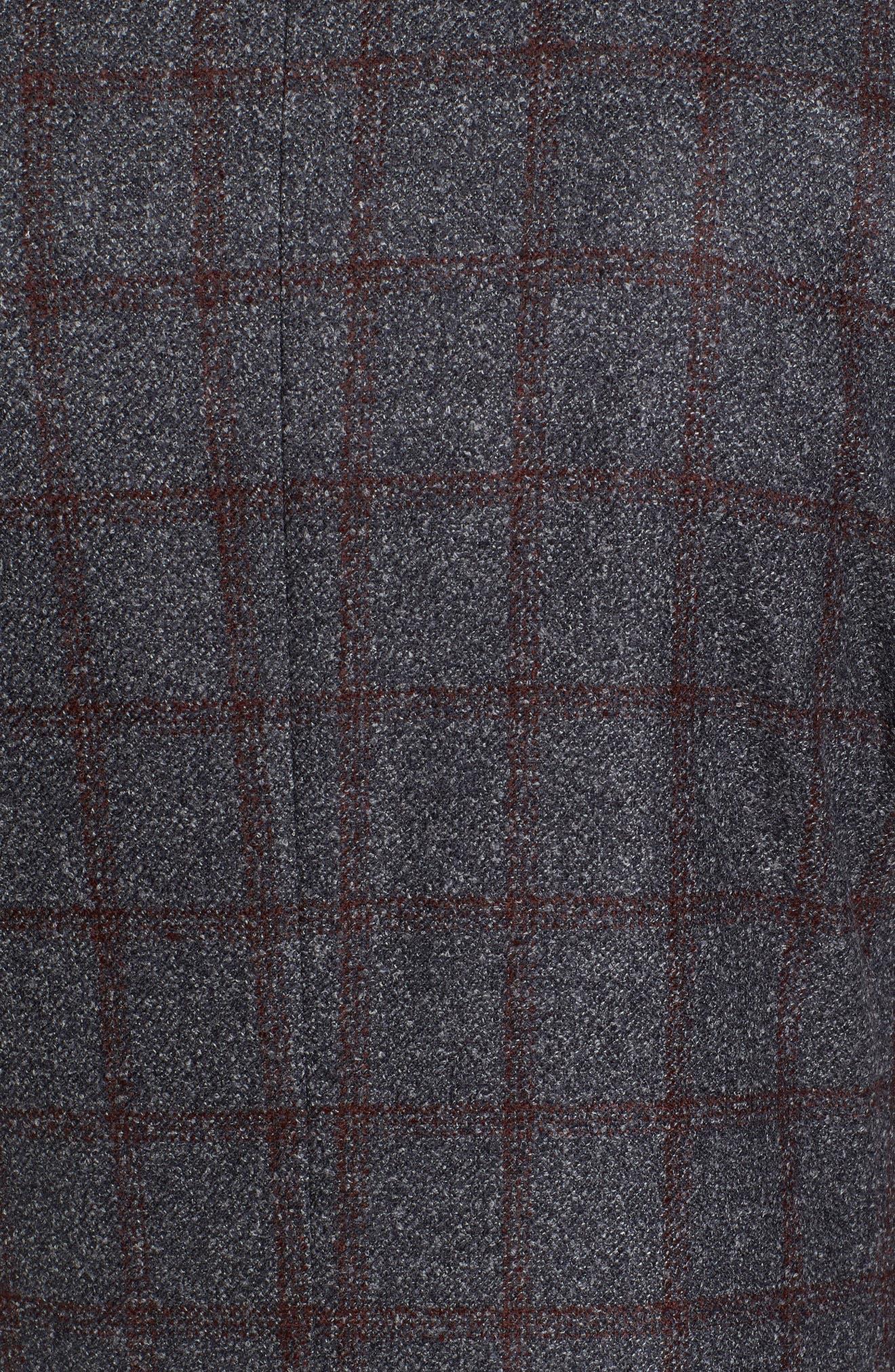 Alternate Image 5  - Ted Baker London Kyle Trim Fit Windowpane Wool Blend Sport Coat