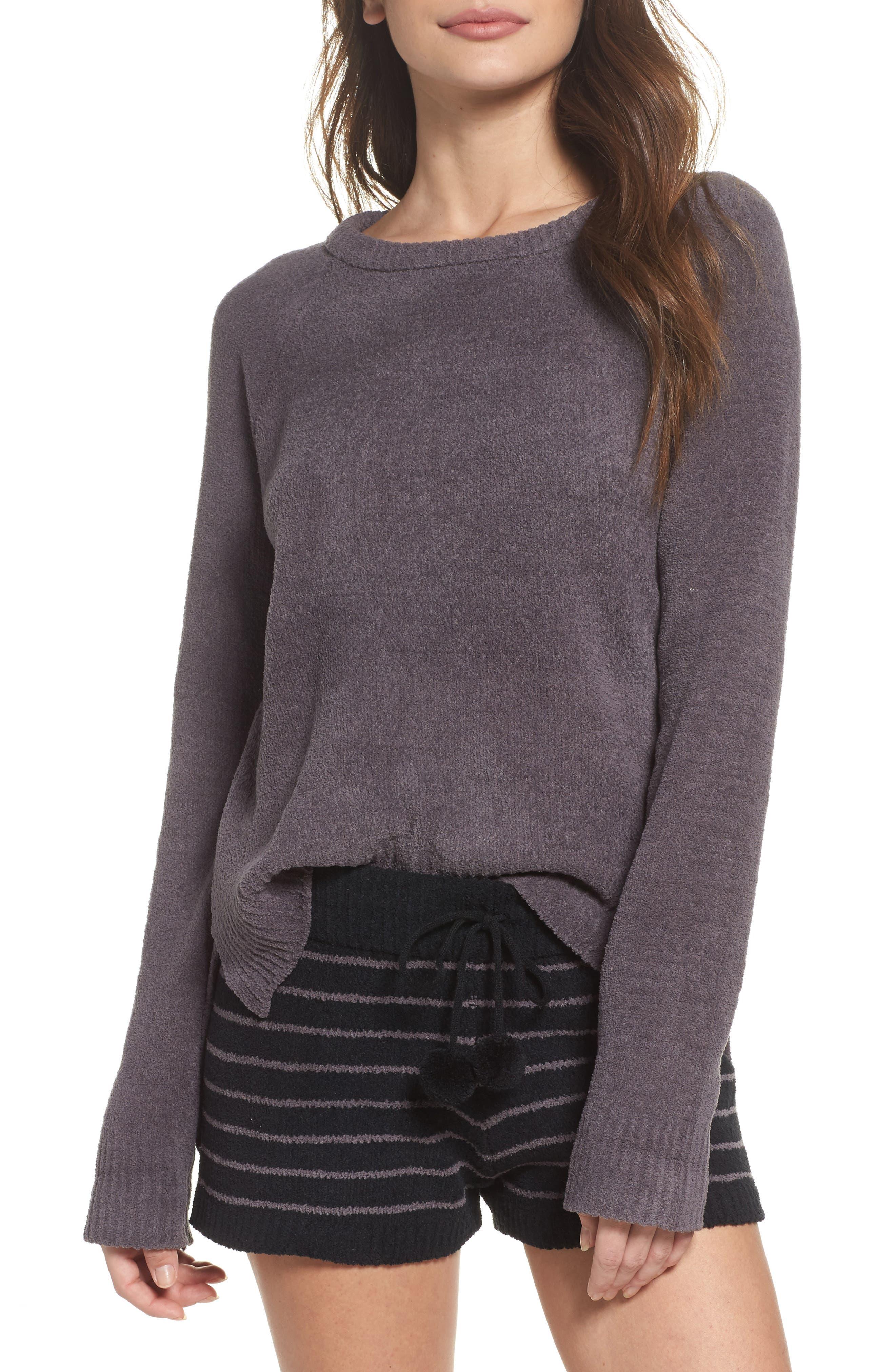 Marshmallow Sweatshirt,                             Alternate thumbnail 5, color,                             Charcoal