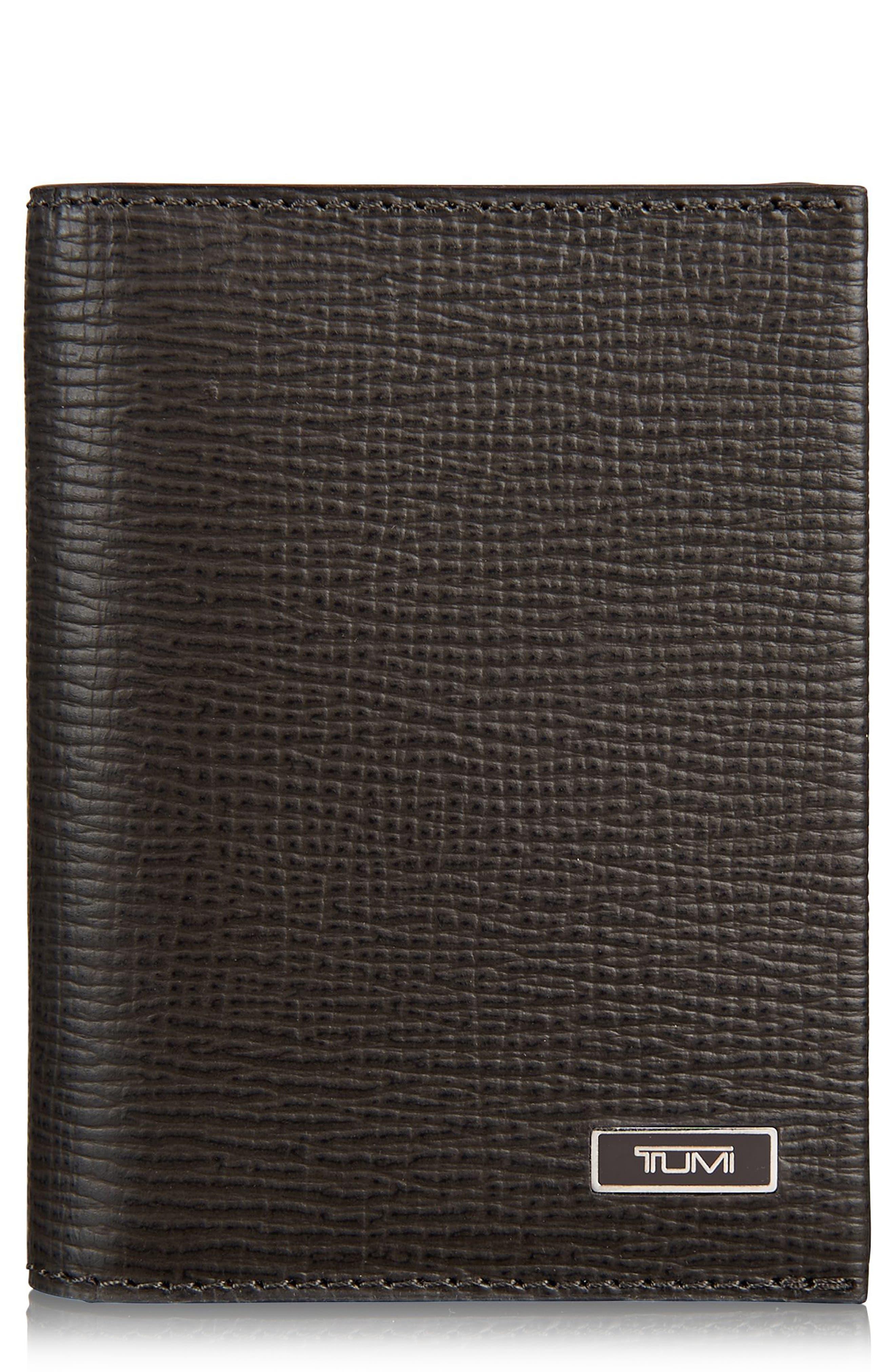Monaco Leather Card Case,                             Main thumbnail 1, color,                             Taupe