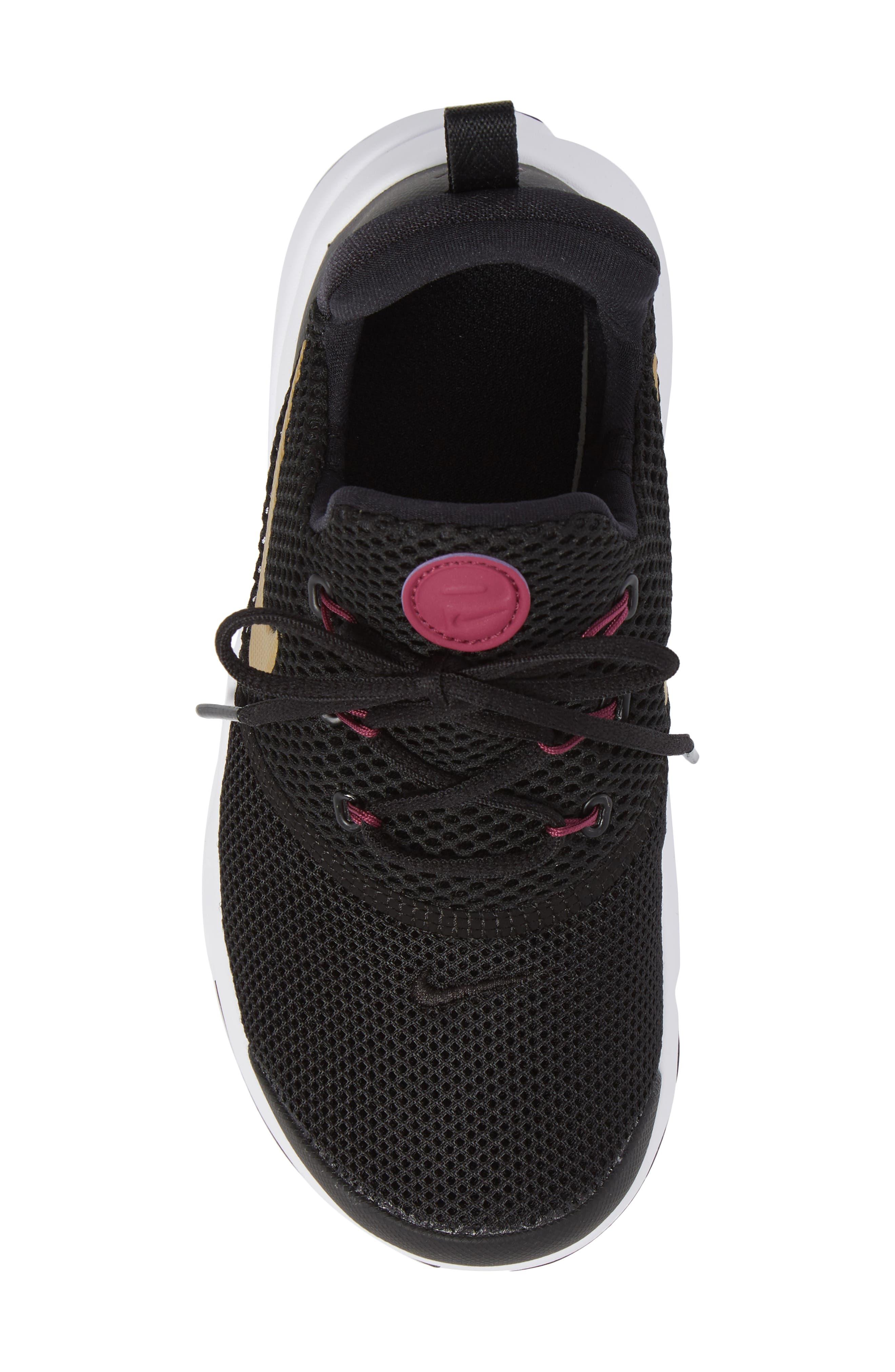 Presto Fly PS Sneaker,                             Alternate thumbnail 5, color,                             Black/ Gold