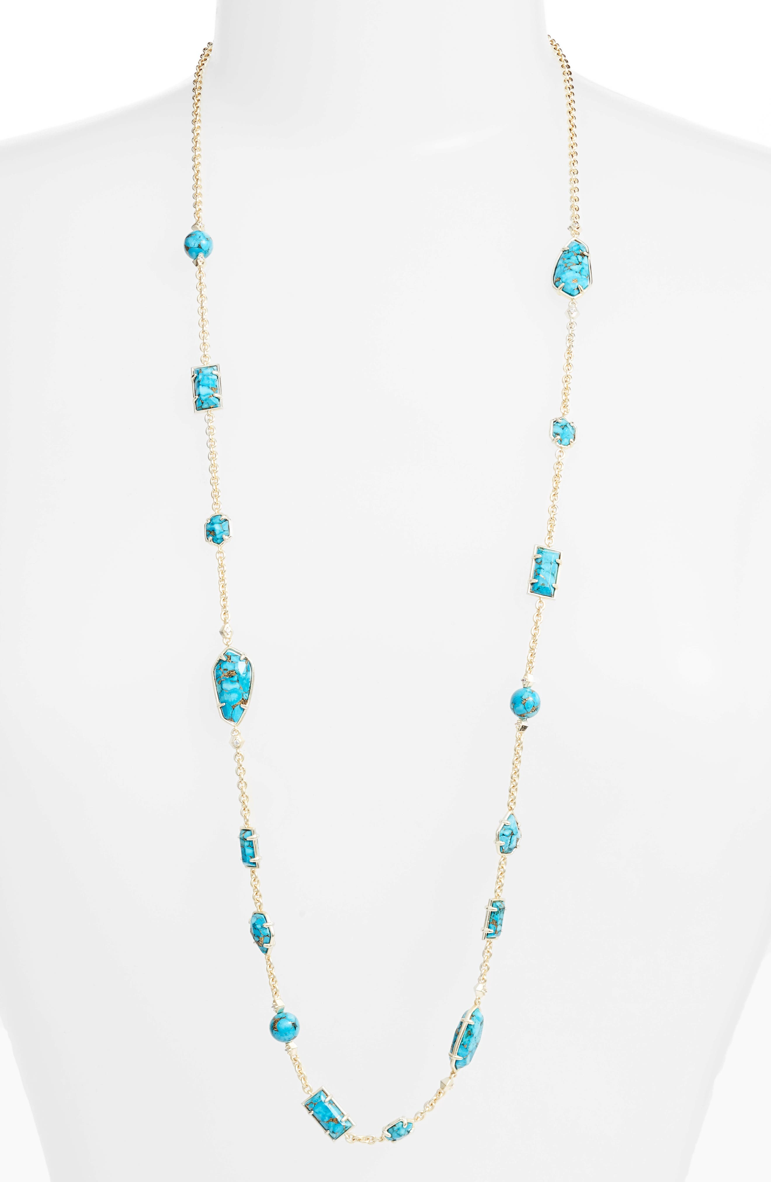 Alternate Image 1 Selected - Kendra Scott Joann Semiprecious Stone Station Necklace (Nordstrom Exclusive)