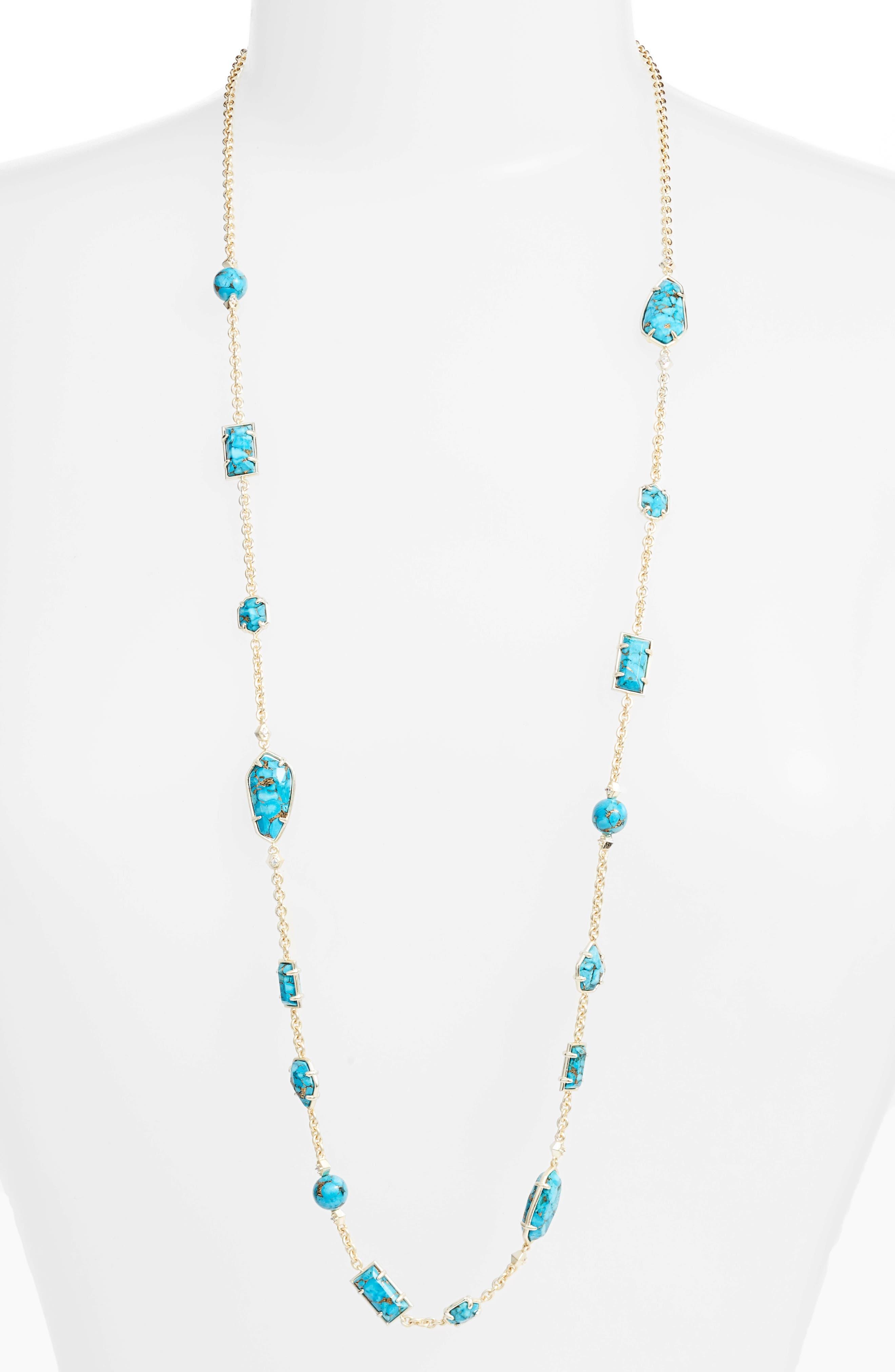 Kendra Scott Joann Semiprecious Stone Station Necklace (Nordstrom Exclusive)