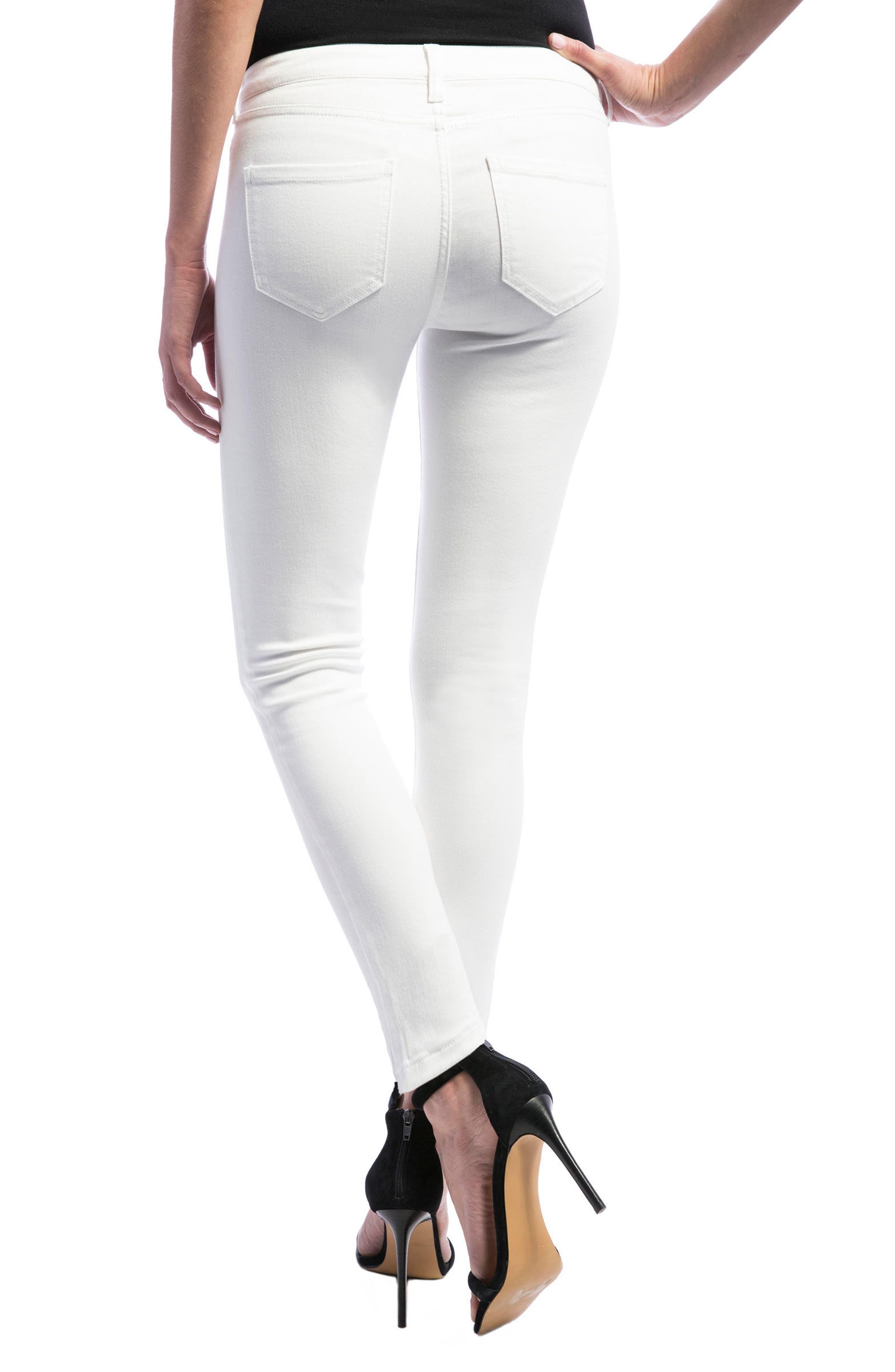 Abby Skinny Jeans,                             Alternate thumbnail 2, color,                             Bright White
