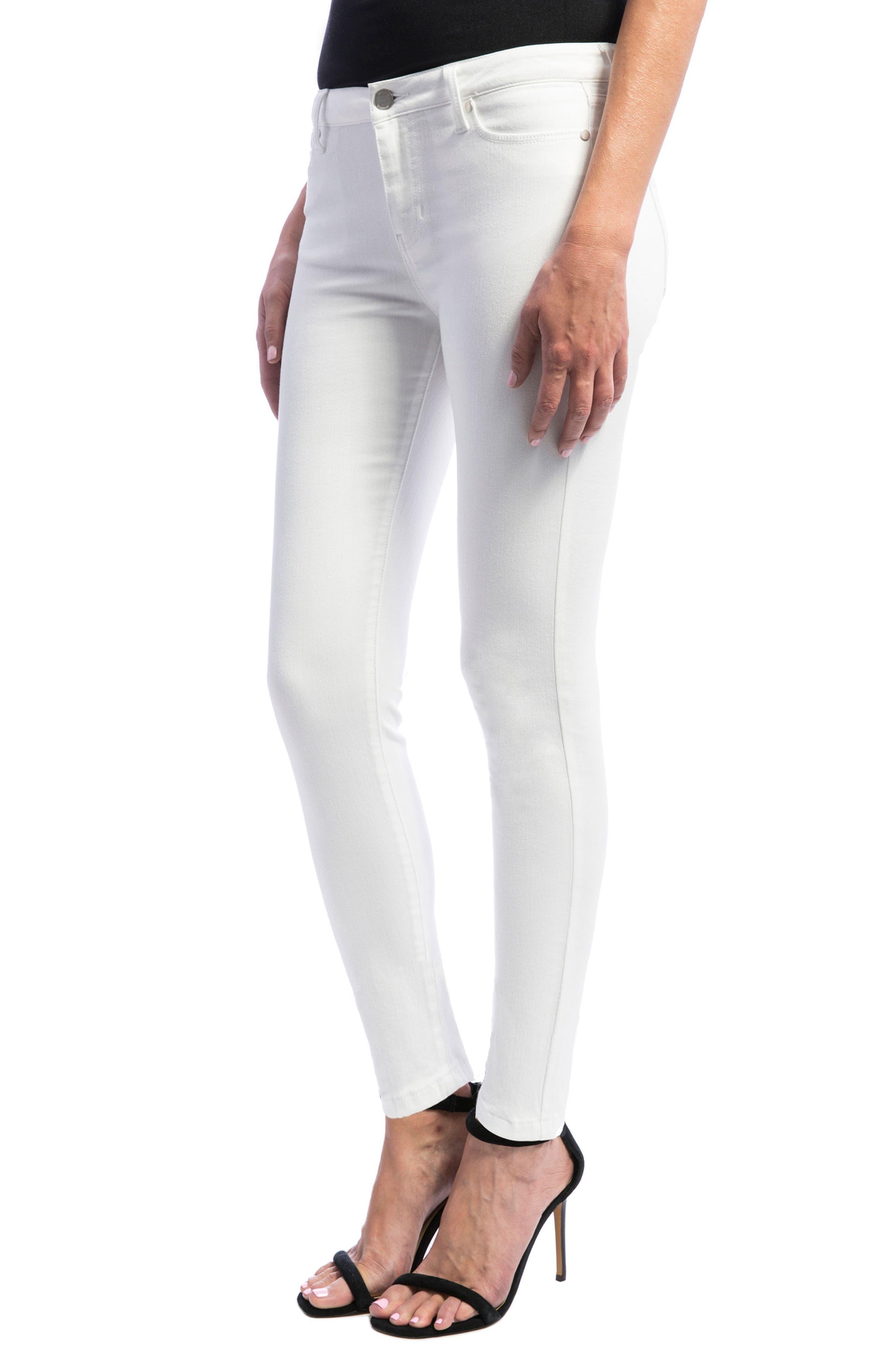 Abby Skinny Jeans,                             Alternate thumbnail 3, color,                             Bright White