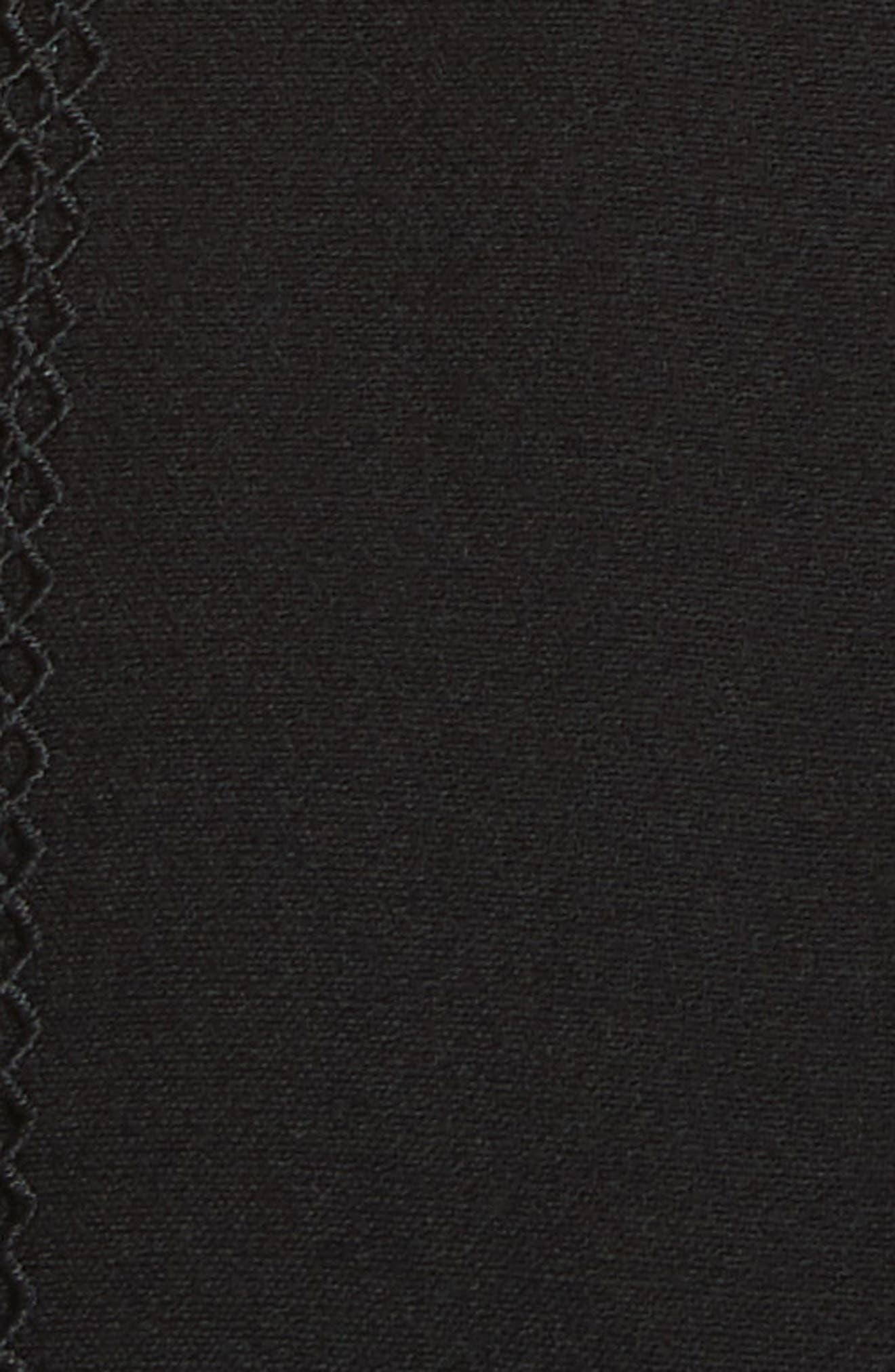 Trimmed Overlay Minidress,                             Alternate thumbnail 5, color,                             Black