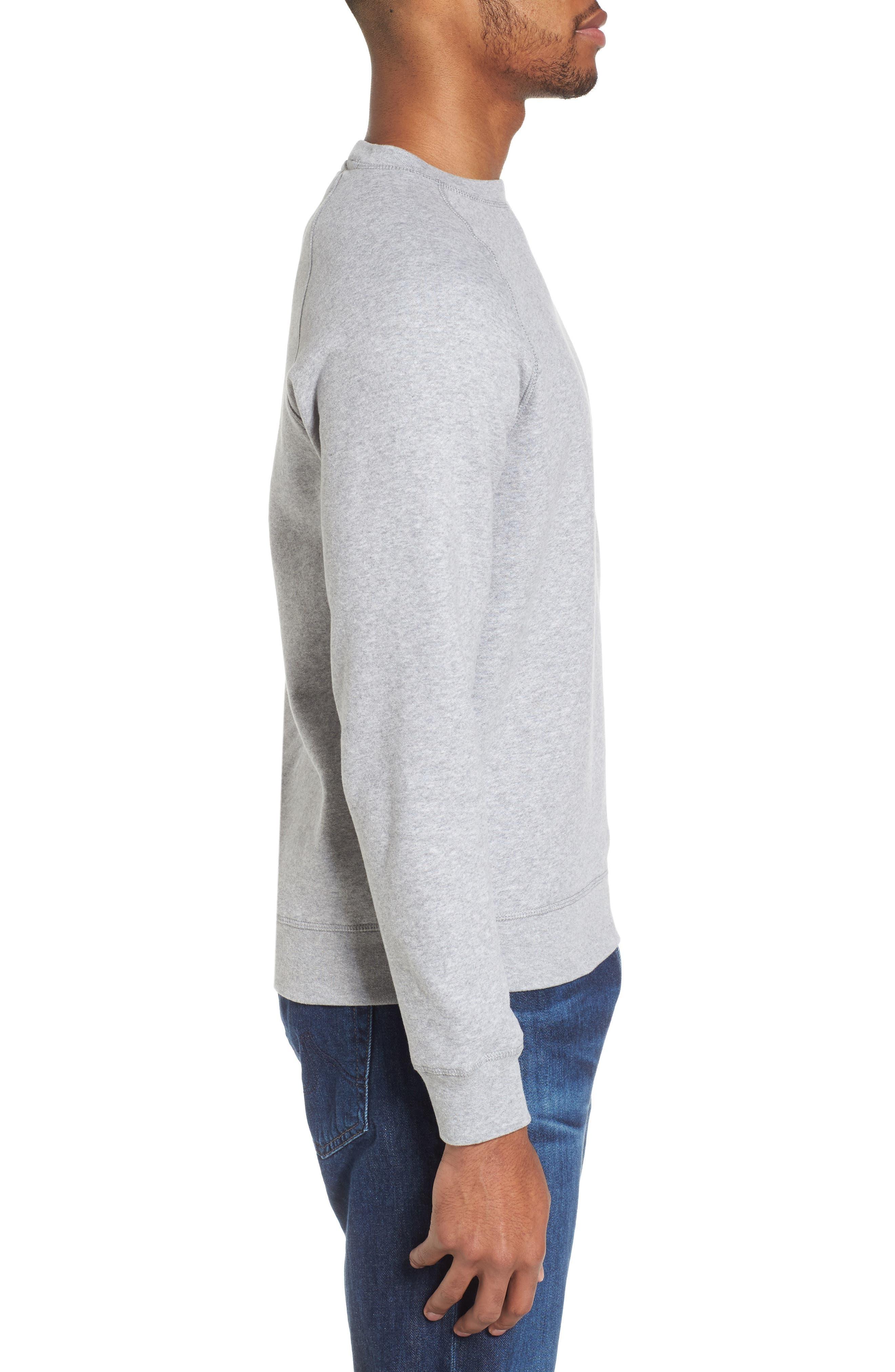 Logo Graphic Essential Sweatshirt,                             Alternate thumbnail 3, color,                             Grey Marl