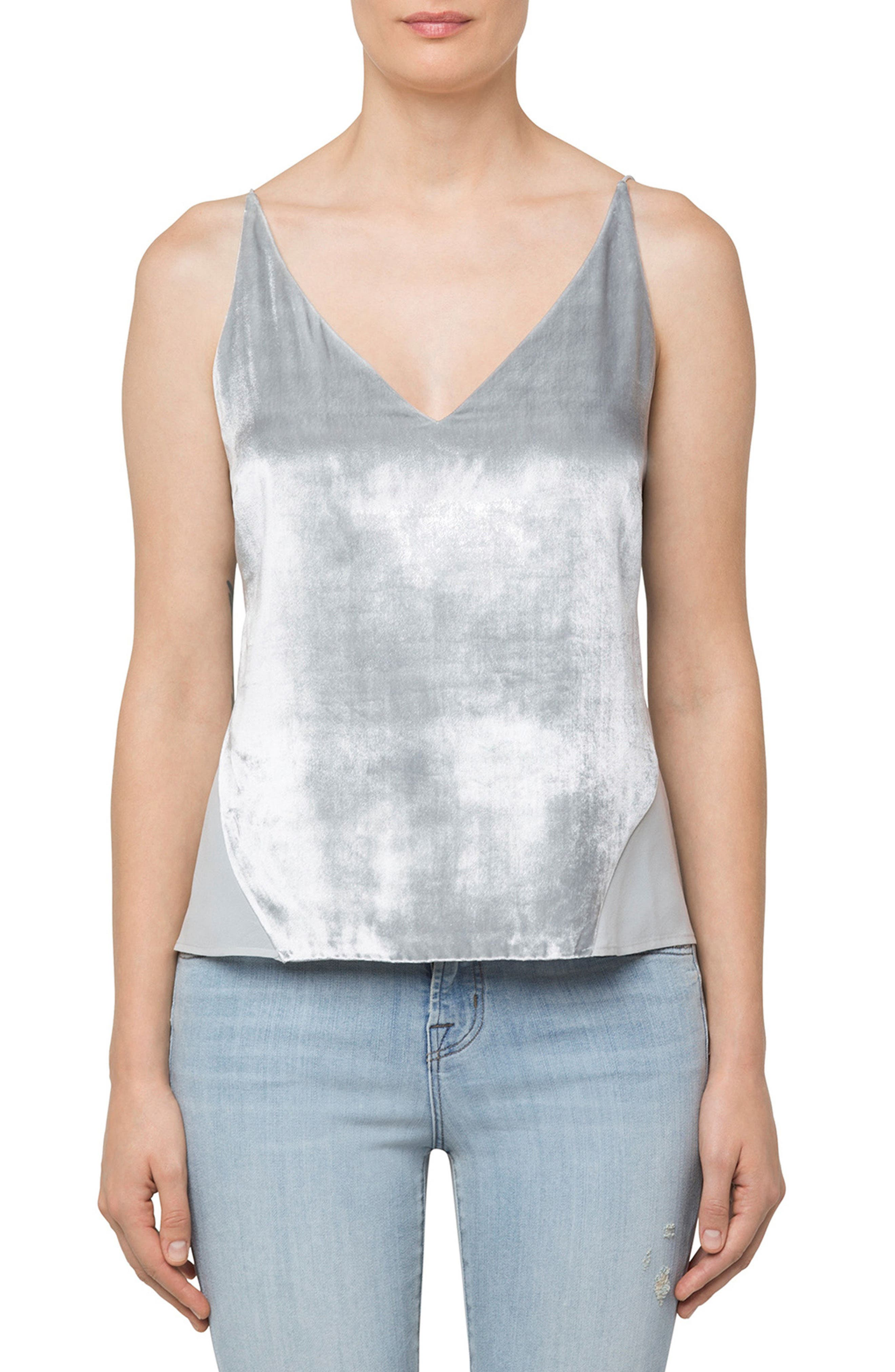 Lucy Camisole,                         Main,                         color, Silver Spoon
