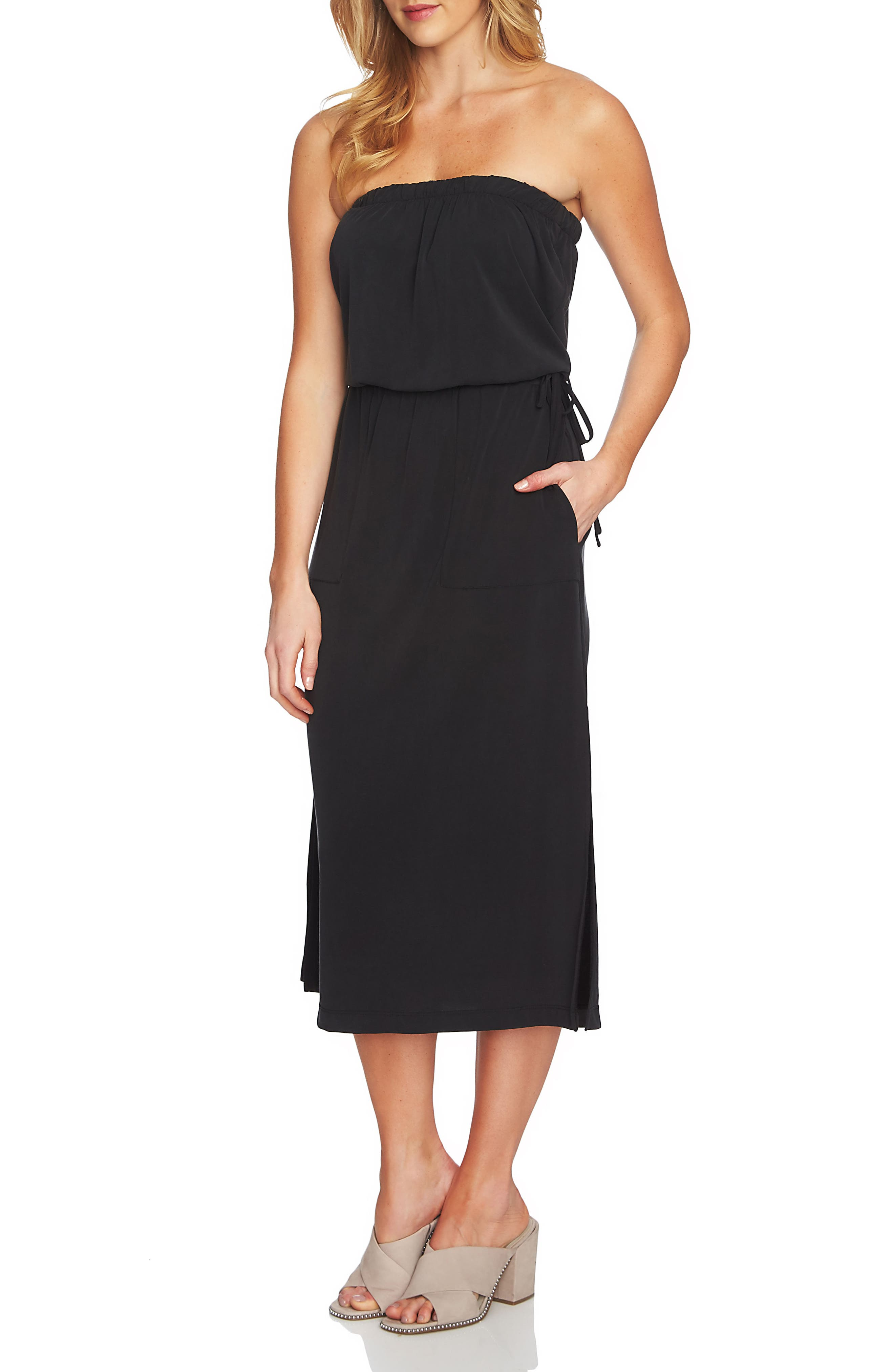 1.STATE STRAPLESS MAXI DRESS, RICH BLACK