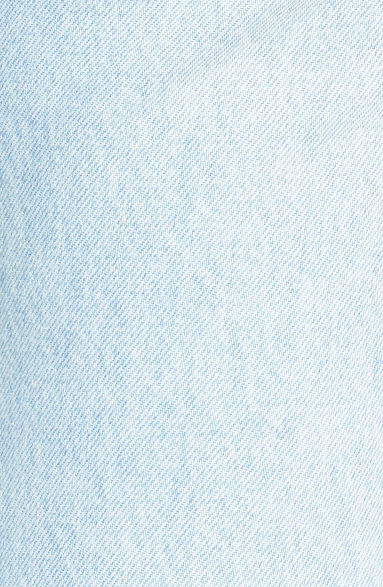 Twig II High Waist Ankle Slim Jeans,                             Alternate thumbnail 7, color,                             Pipeline Blue