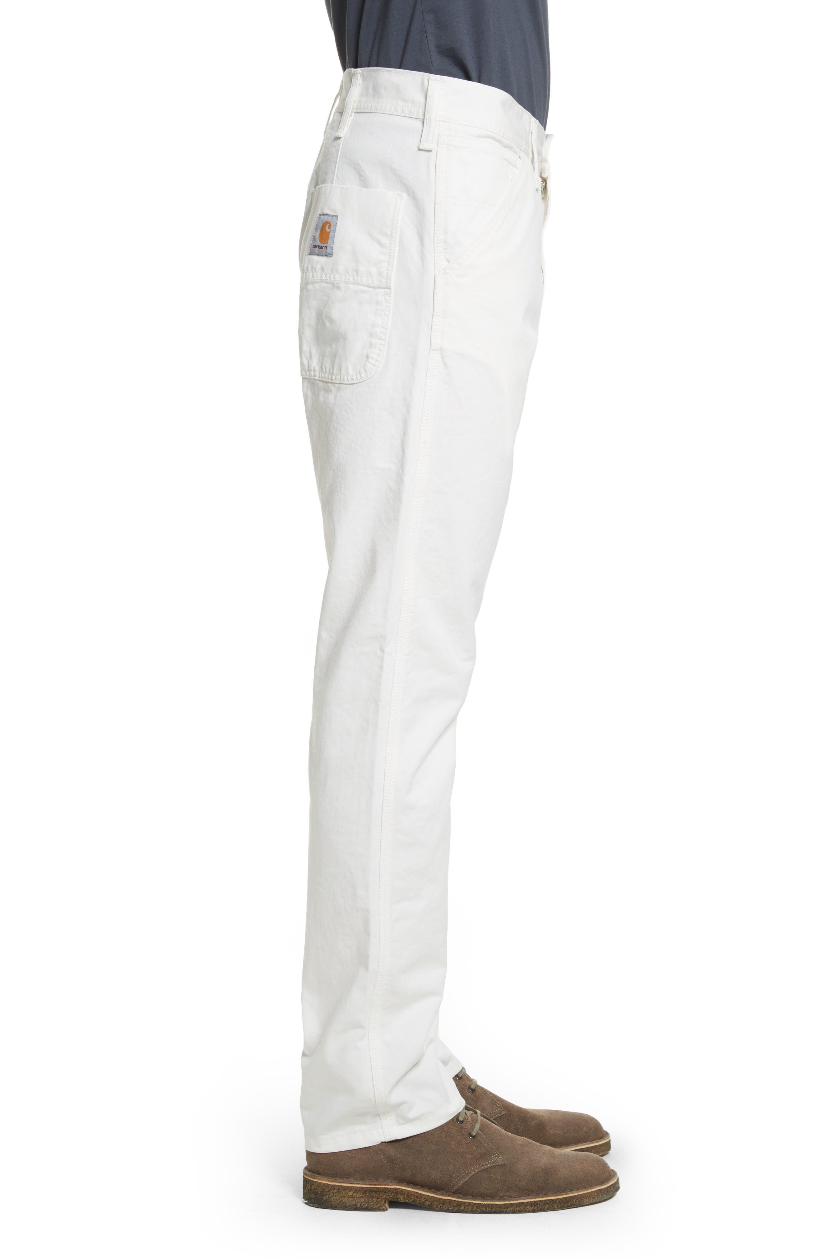 Chalk Pants,                             Alternate thumbnail 3, color,                             Off White