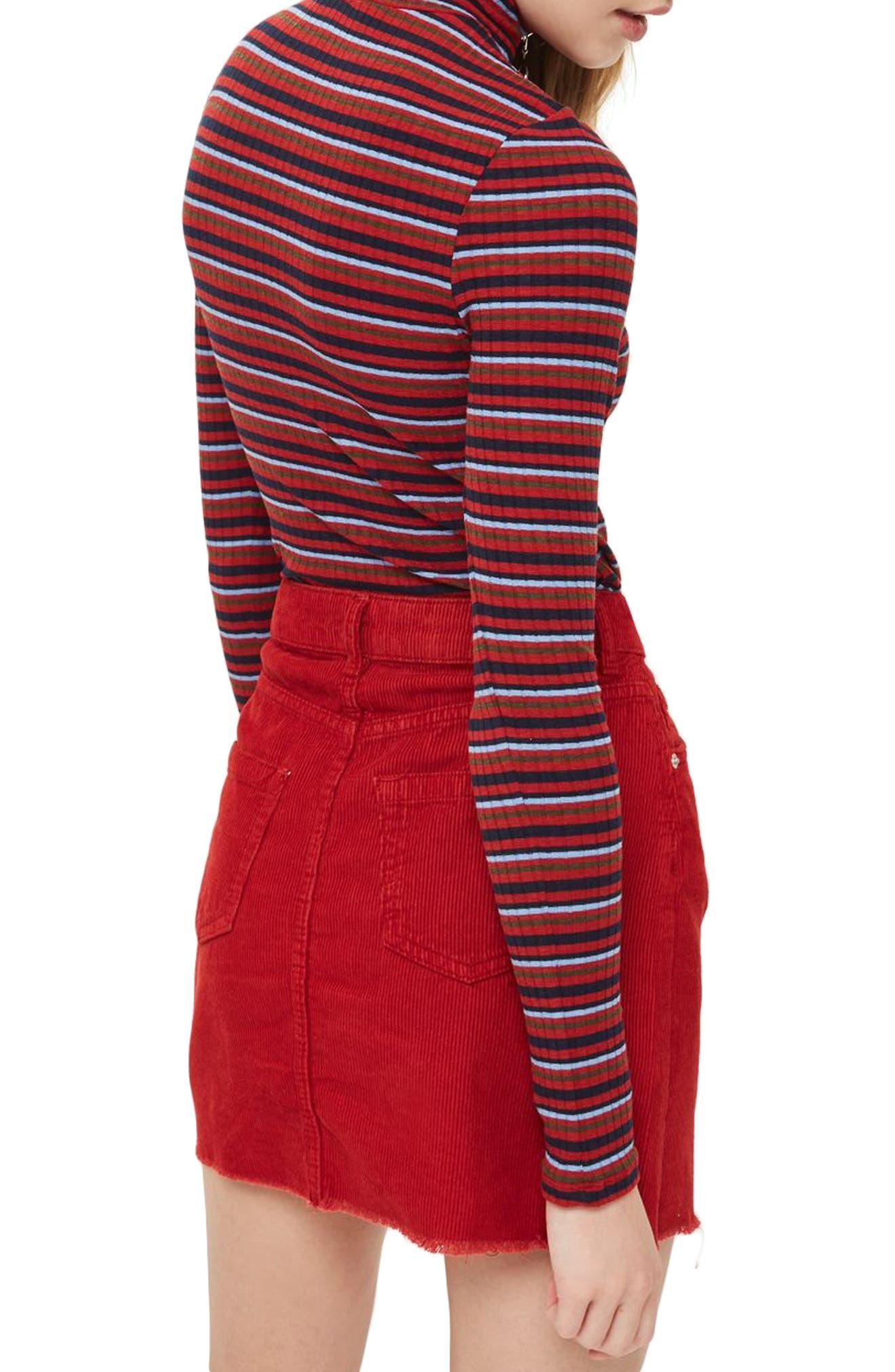 Quarter Zip Mock Neck Sweater,                             Alternate thumbnail 2, color,                             Red Multi
