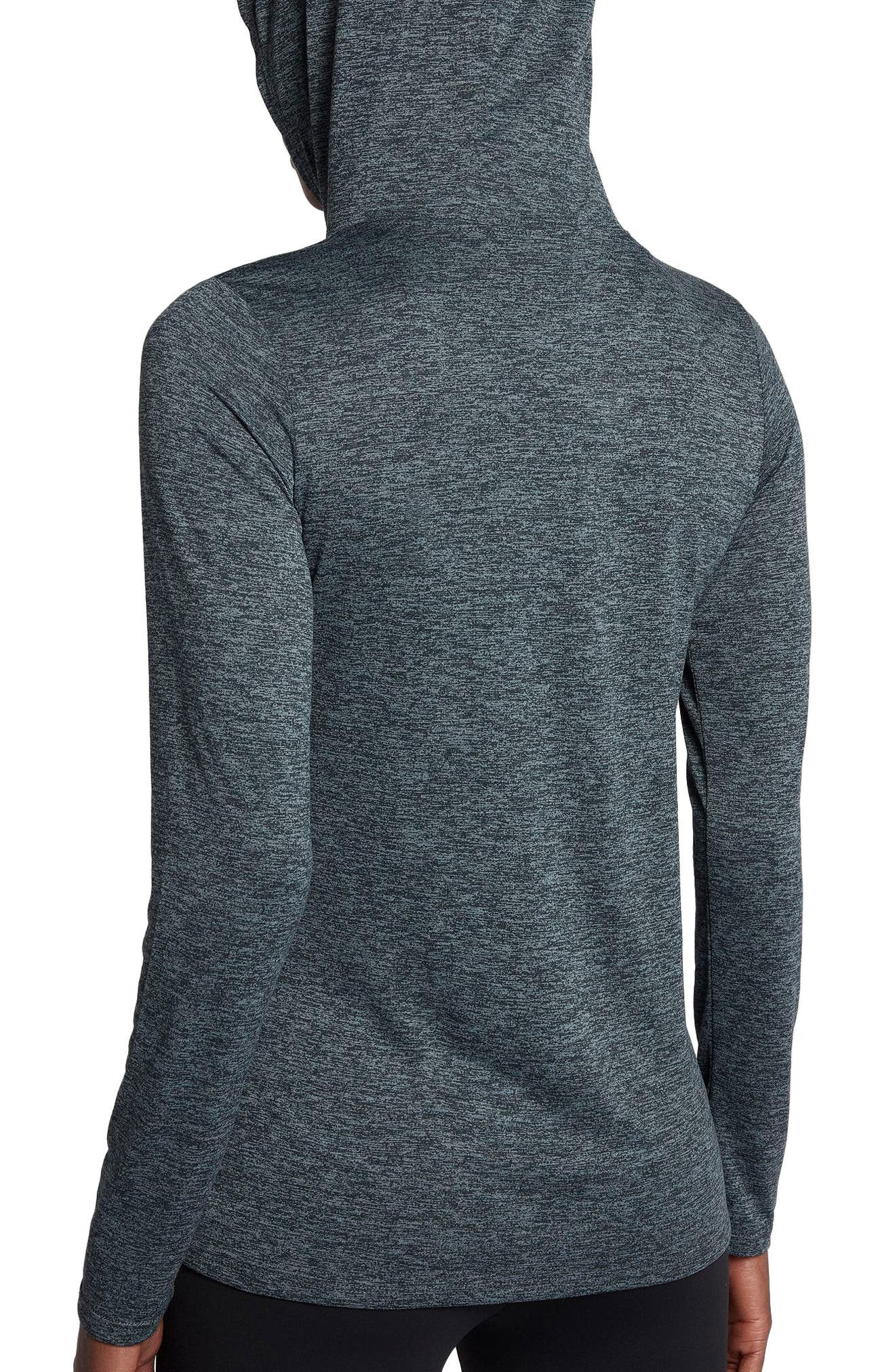Dry Legend Hooded Training Top,                             Alternate thumbnail 2, color,                             Black/ Cool Grey/ White