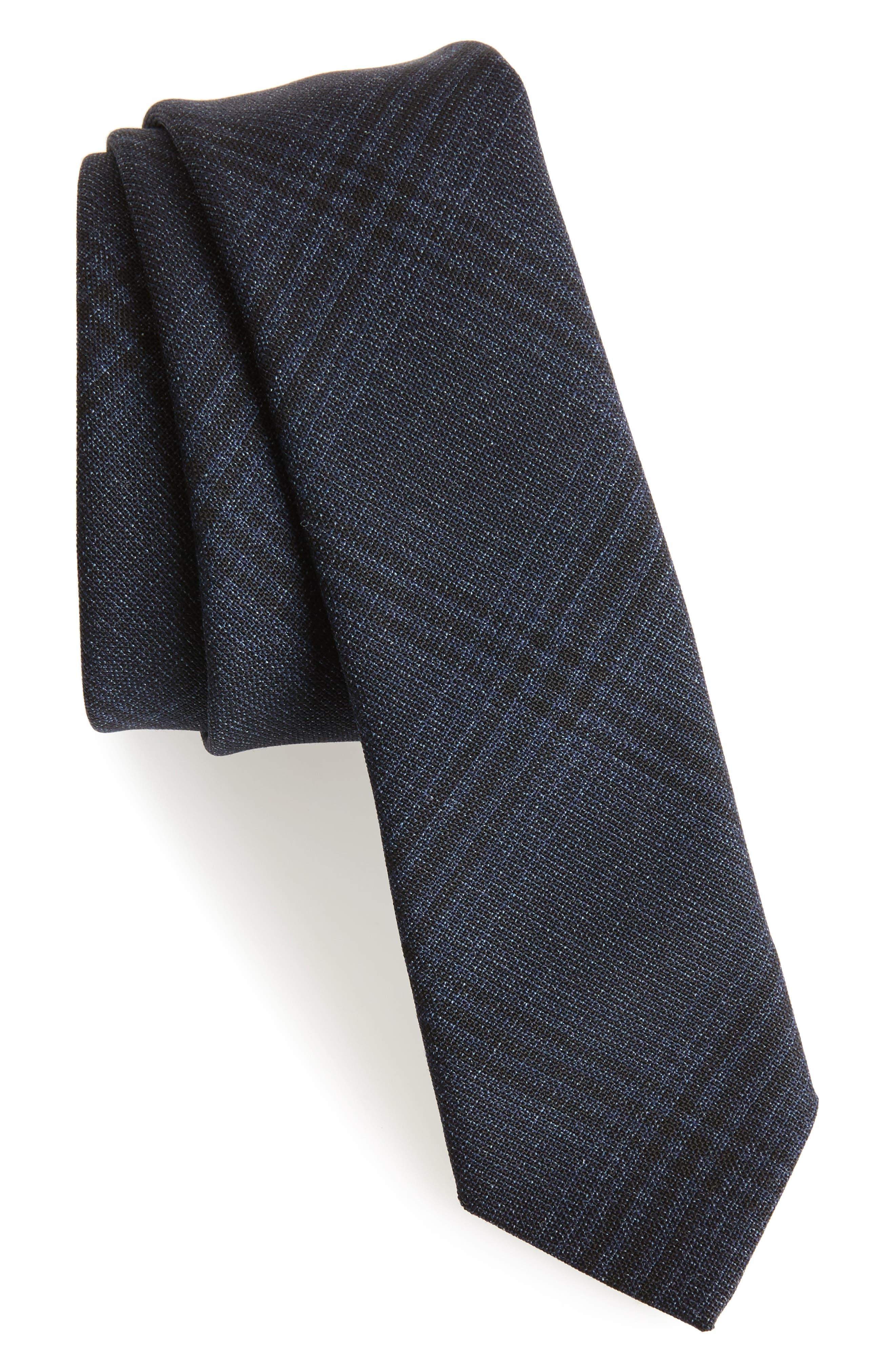 Main Image - Eleventy Plaid Wool Tie
