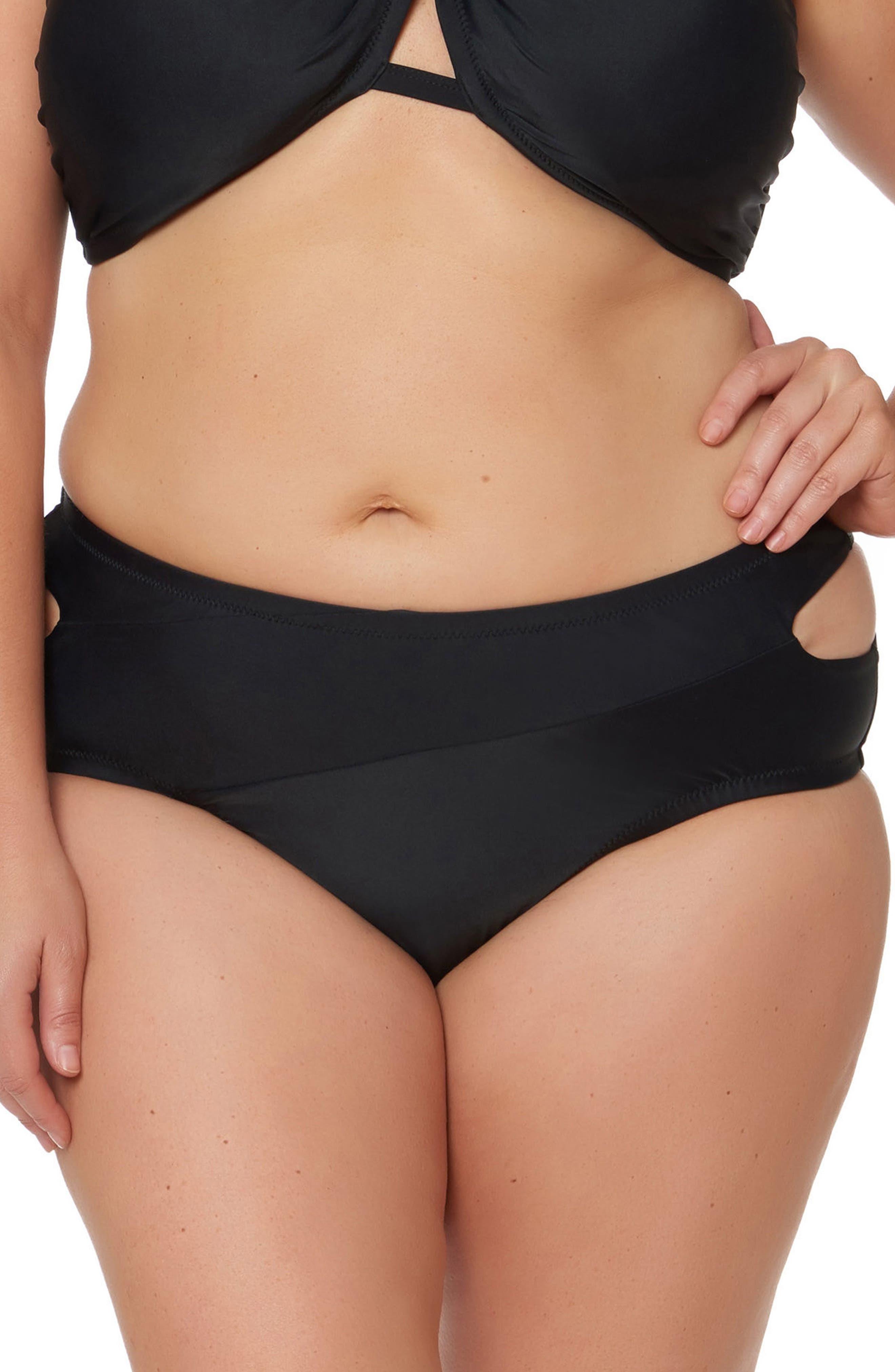 Main Image - Jessica Simpson Hipster Bikini Bottoms (Plus Size)