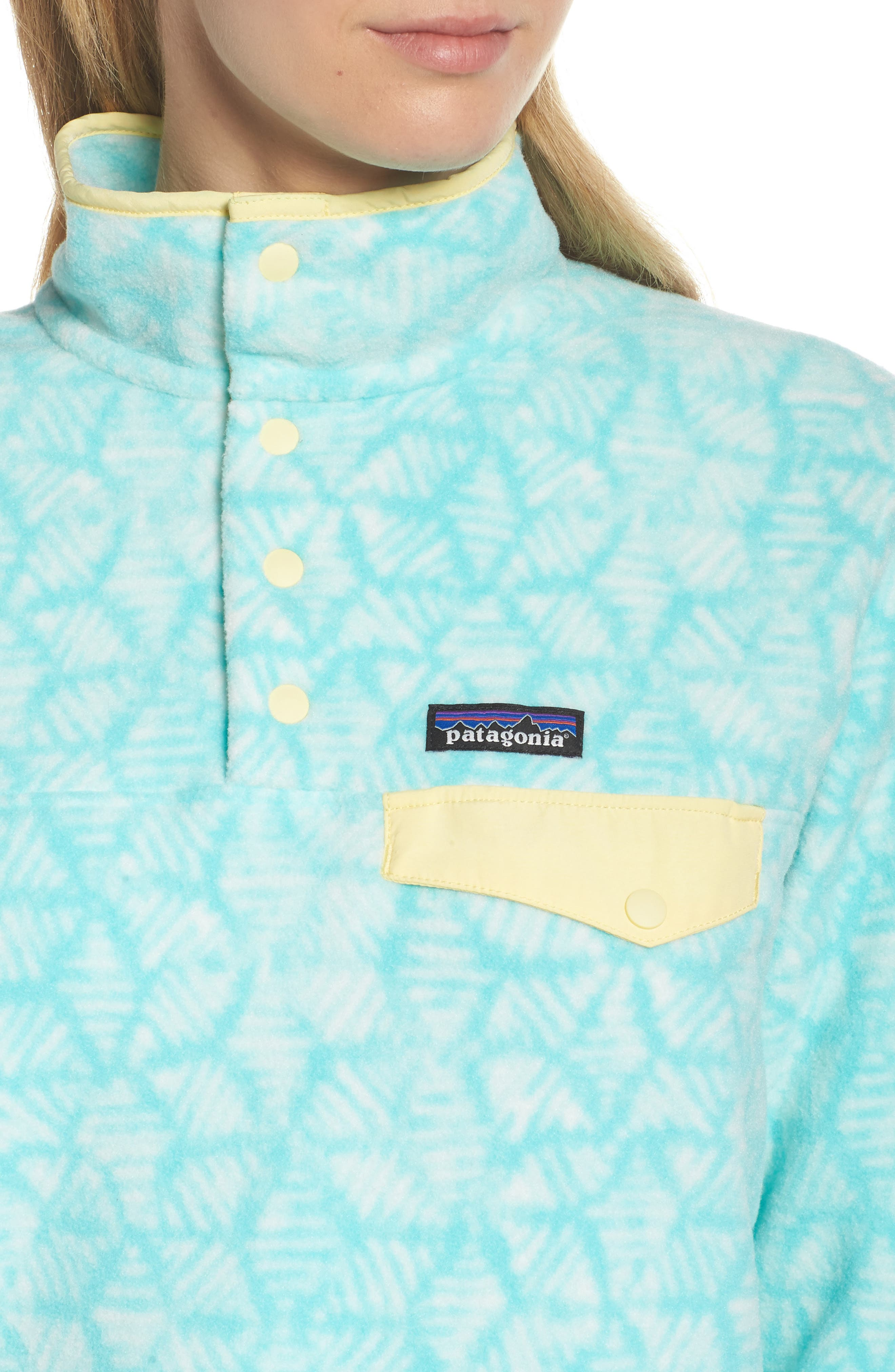 Synchilla Snap-T<sup>®</sup> Fleece Pullover,                             Alternate thumbnail 4, color,                             Batik Hex Big/ Bend Blue