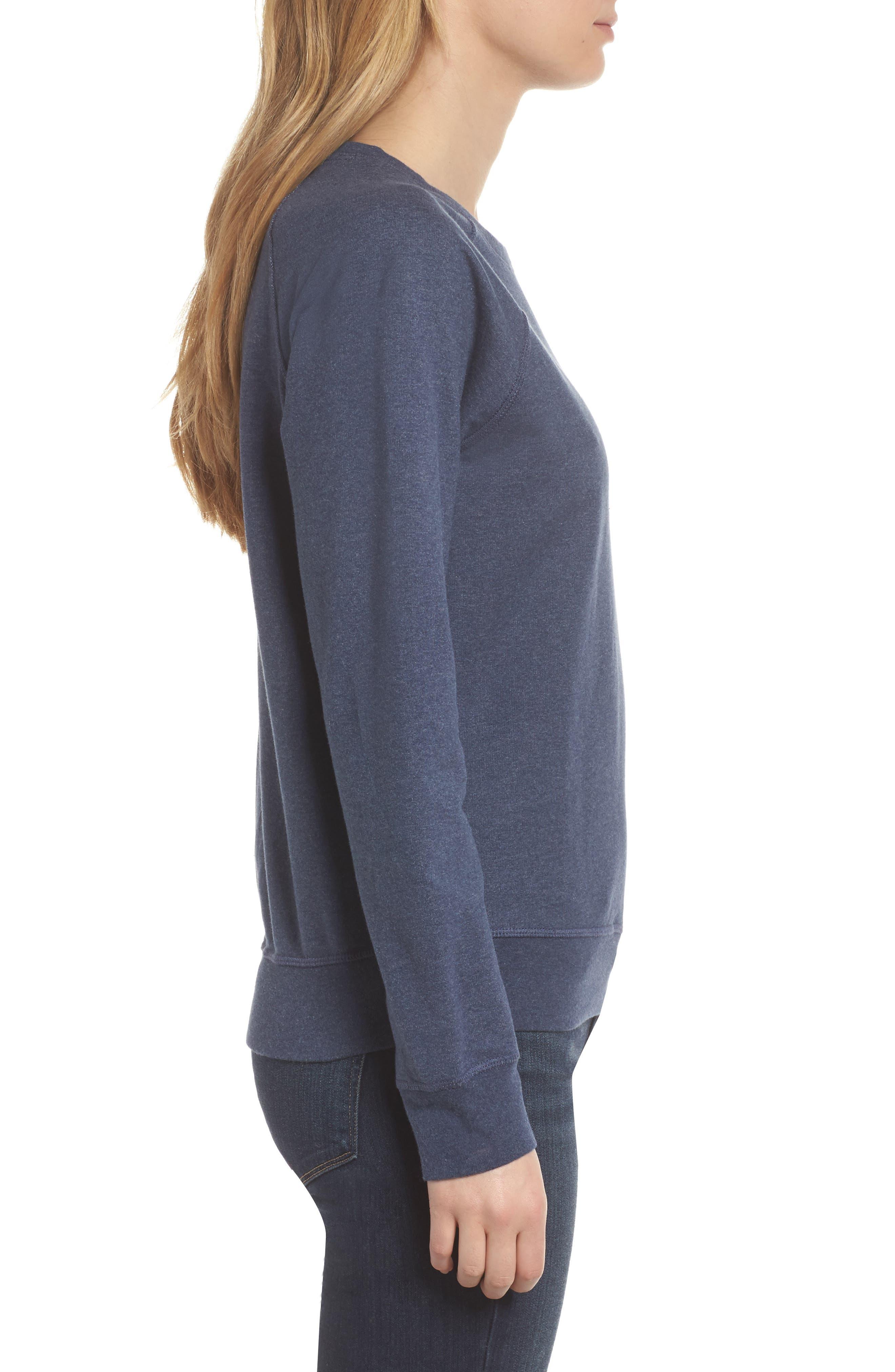 Pastel P-6 Label Midweight Sweatshirt,                             Alternate thumbnail 3, color,                             Classic Navy