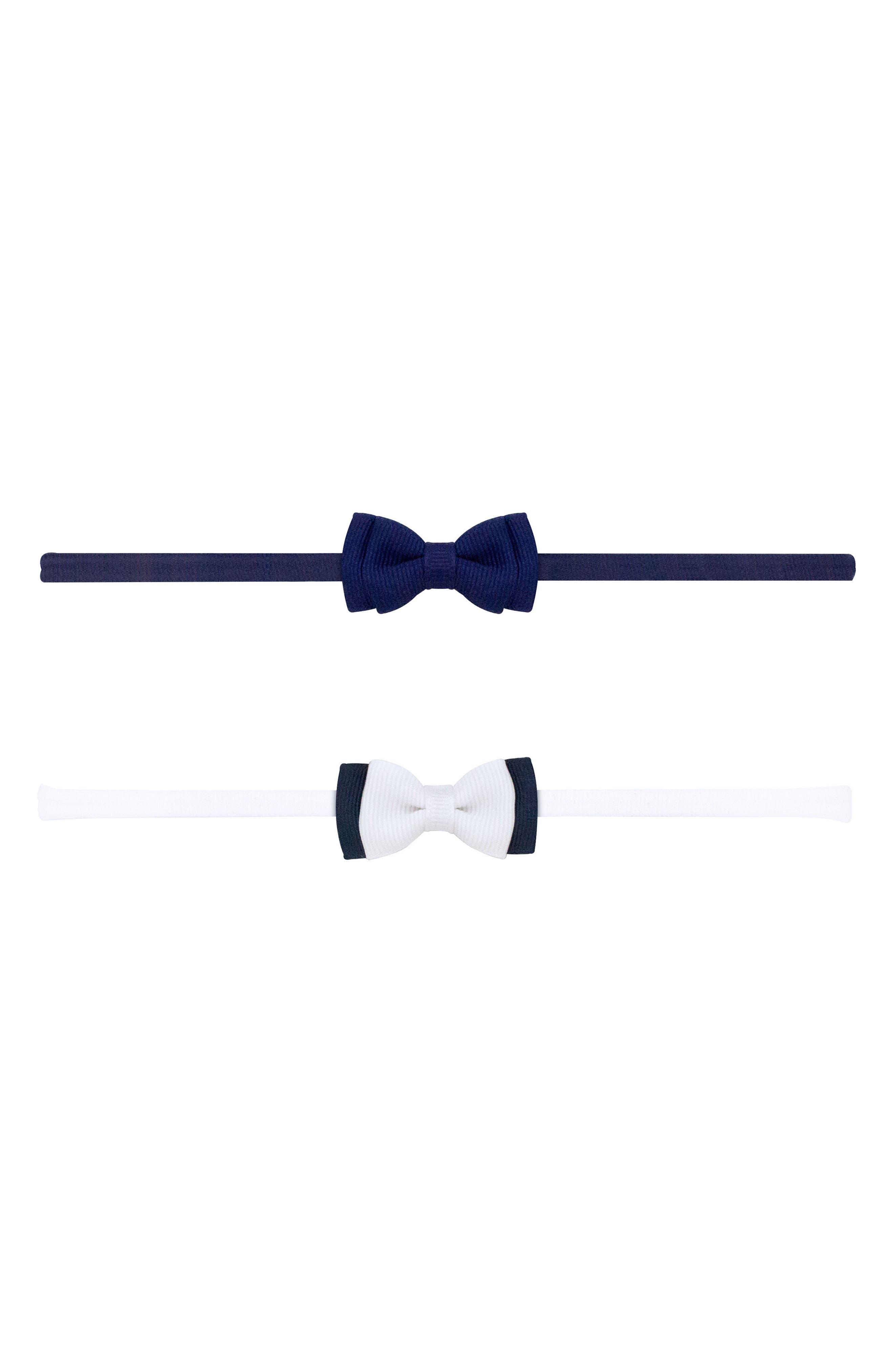 2-Pack Bow Headbands,                             Main thumbnail 1, color,                             Navy