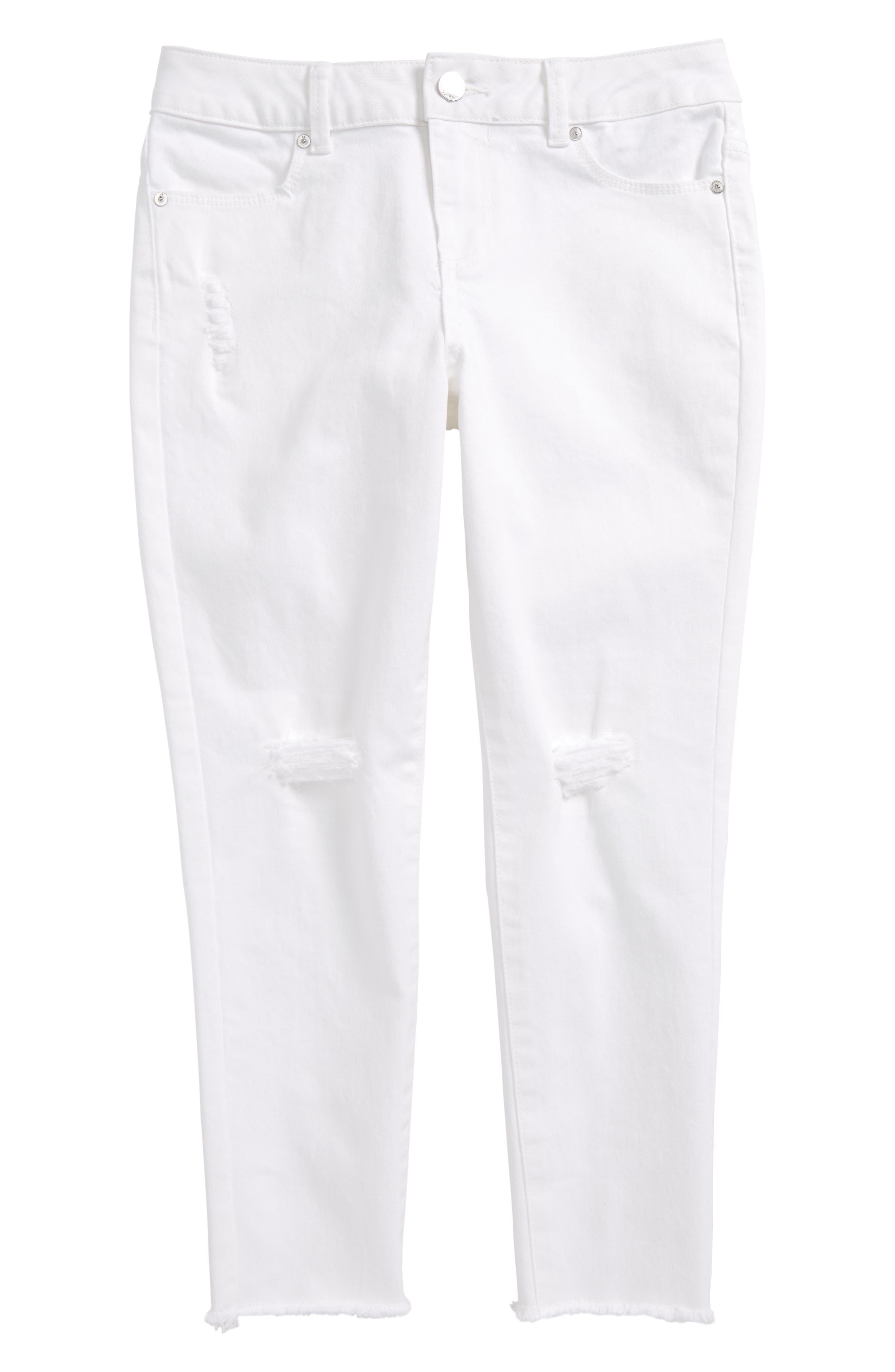 Calvin Klein Frayed Crop Skinny Jeans (Big Girls)