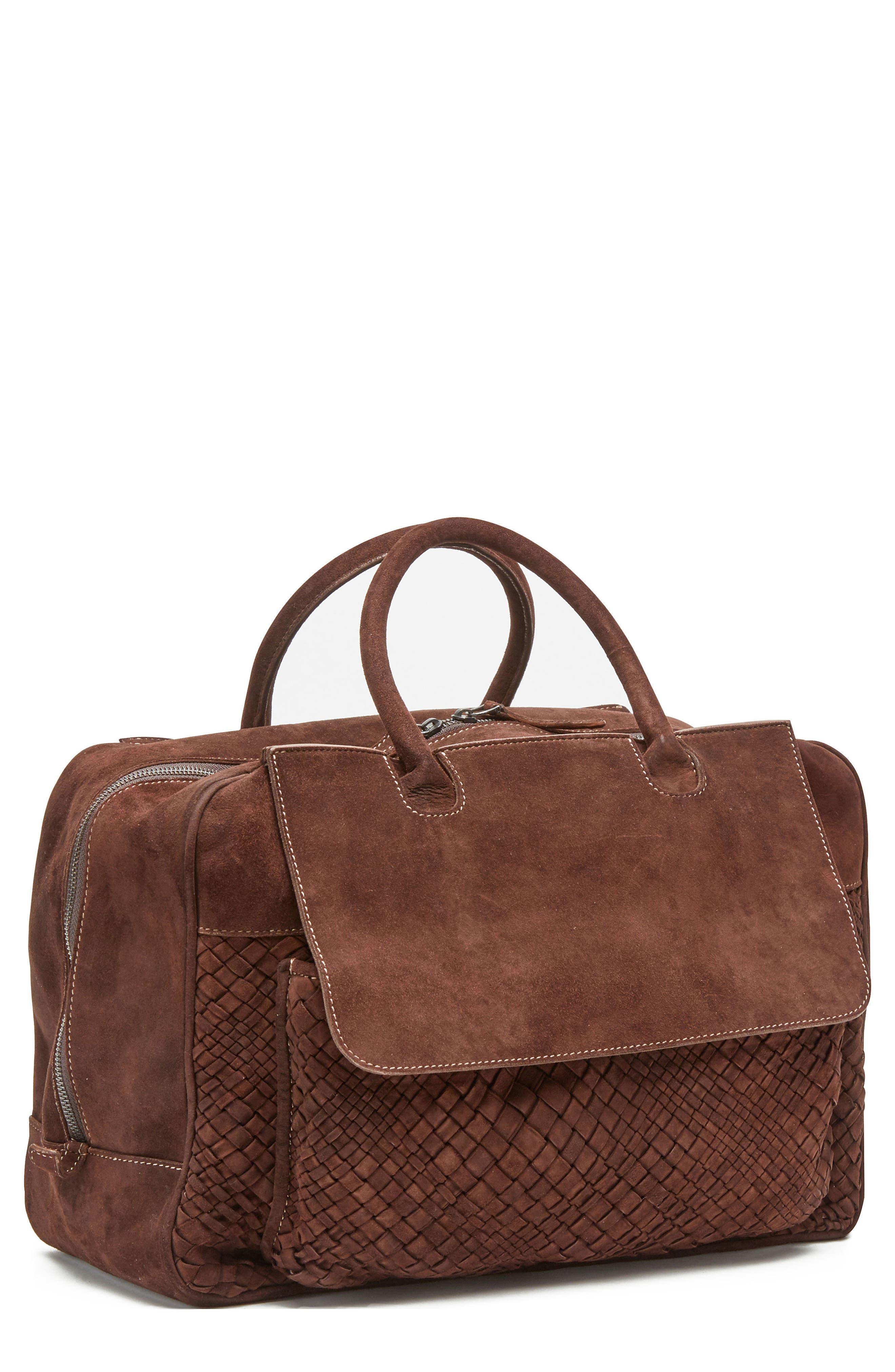 Eleventy Suede Duffel Bag