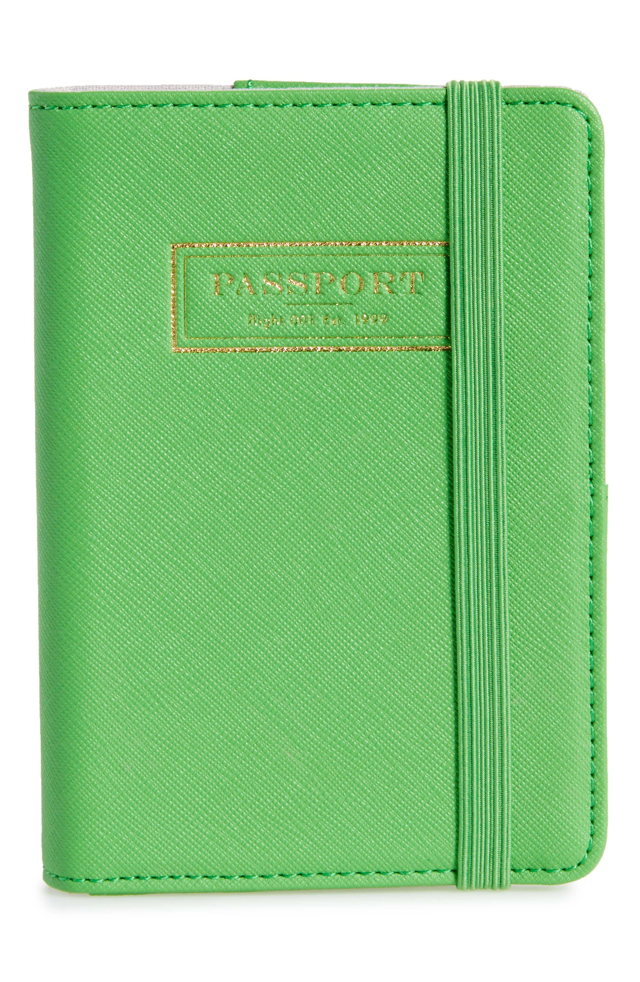 Correspondent Passport Cover,                         Main,                         color, Green