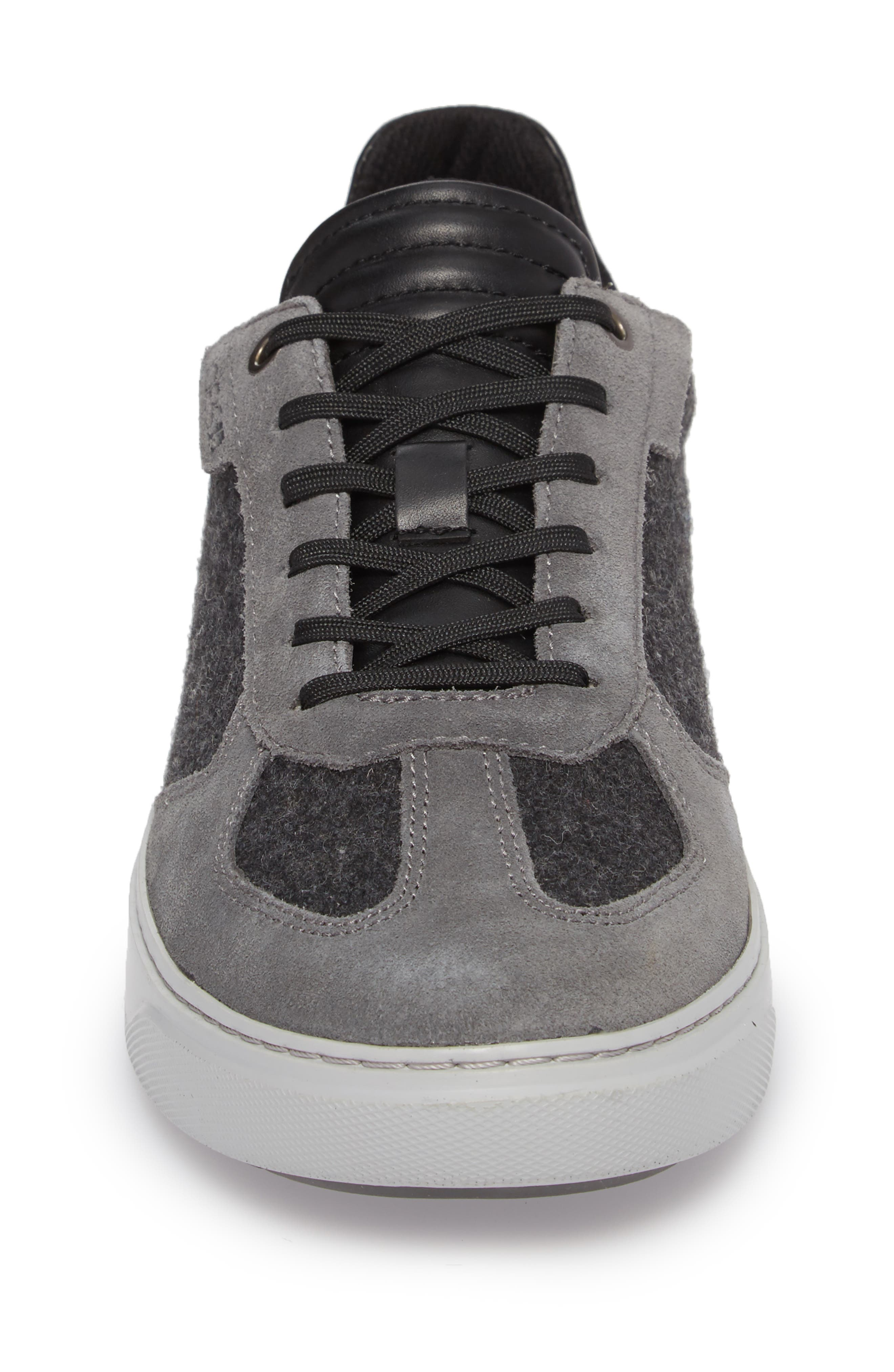 Mo Joe Sneaker,                             Alternate thumbnail 4, color,                             Charcoal Wool/ Suede