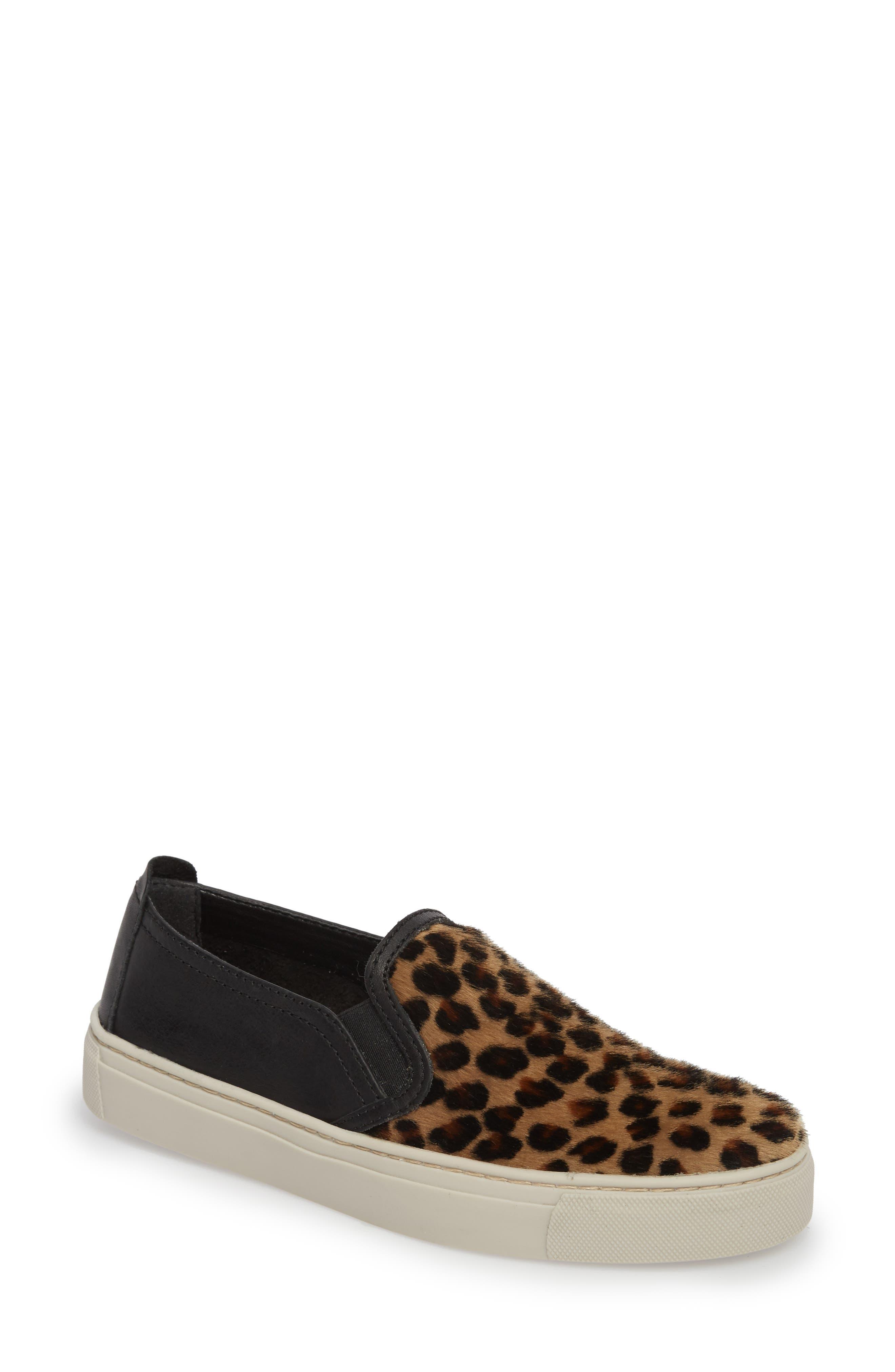 Sneak About Slip-On Sneaker,                             Main thumbnail 1, color,                             Jaguar Black Leather