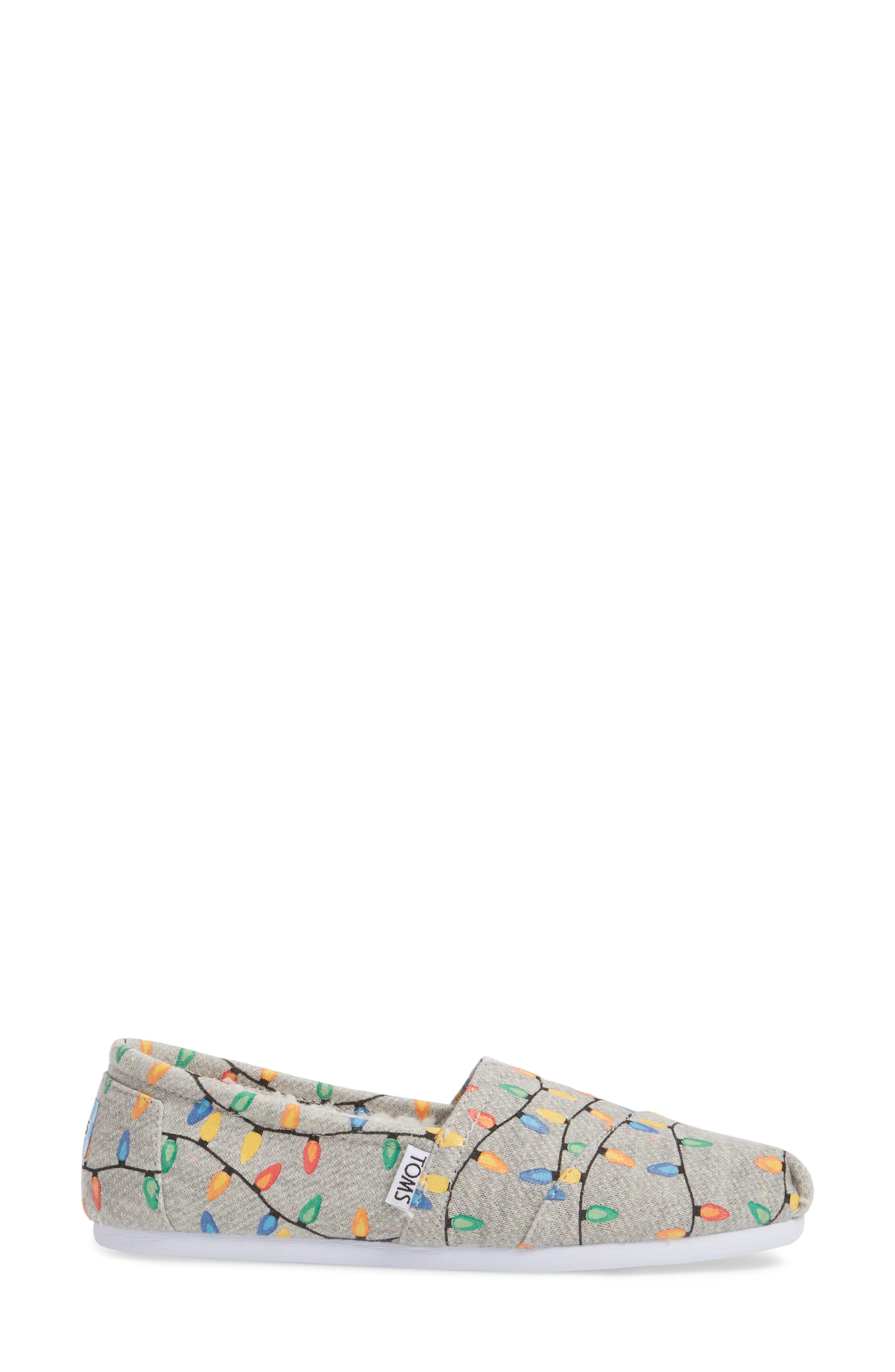 'Classic Knit' Slip-On,                             Alternate thumbnail 3, color,                             Grey